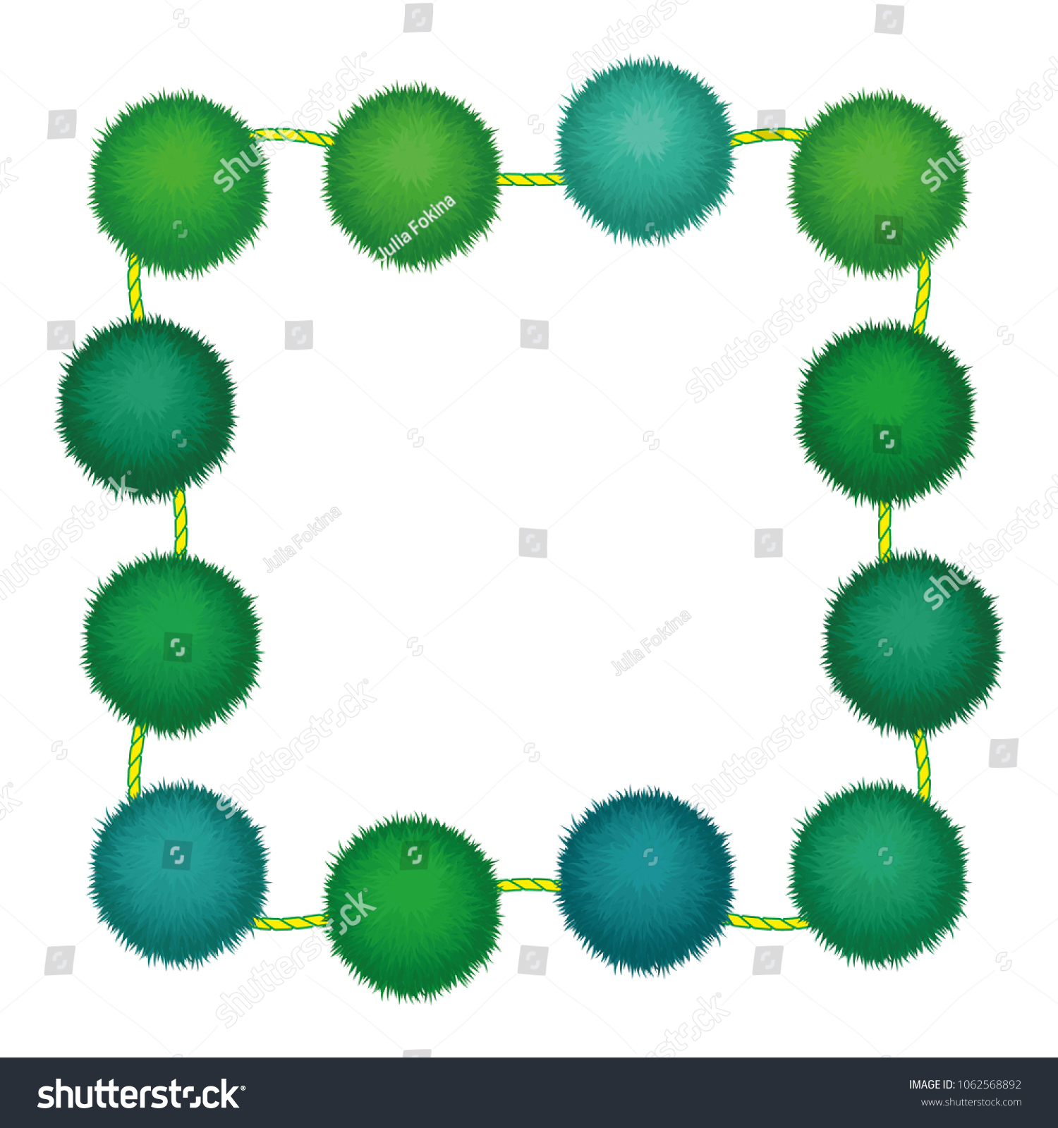 Set 10 Cute Green Birthday Party Stock Vector (Royalty Free ...