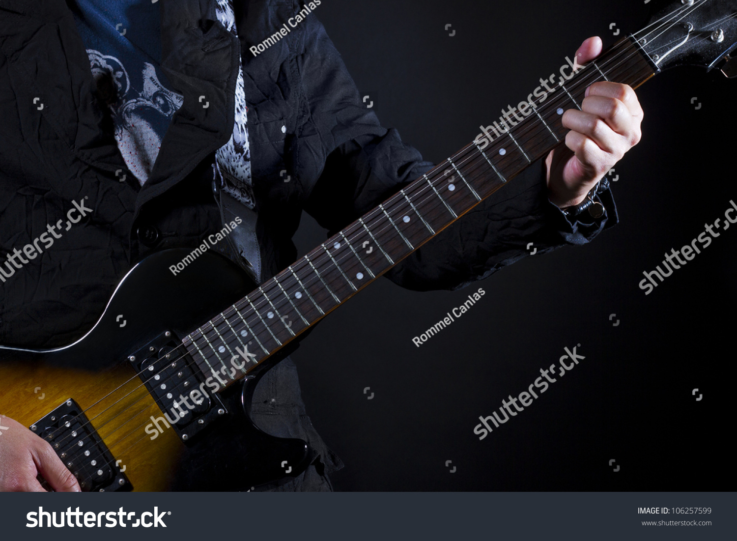 Guitar Power Chords D Stock Photo Royalty Free 106257599