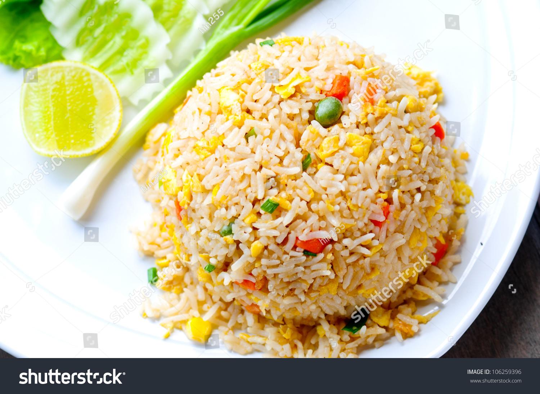 Macro Fried Rice Thai Style Stock Photo 106259396 : Shutterstock