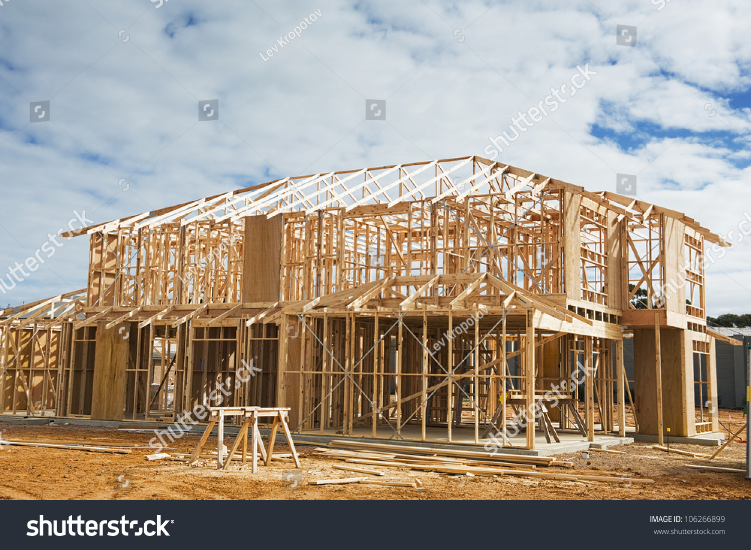 New Residential Construction Home Framing.Construction ...