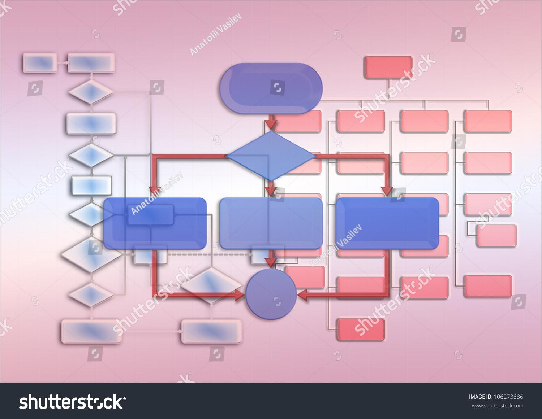 Empty flow chart diagram use programming stock illustration empty flow chart diagram use for programming nvjuhfo Gallery