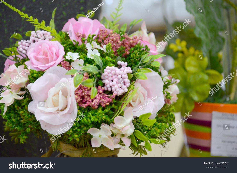 Light Colored Artificial Rose Flowers Bouquet Stock Photo Edit Now