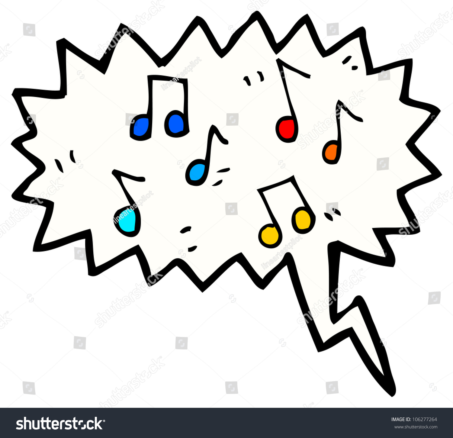 Cartoon Music Sound Stock Illustration 106277264 - Shutterstock
