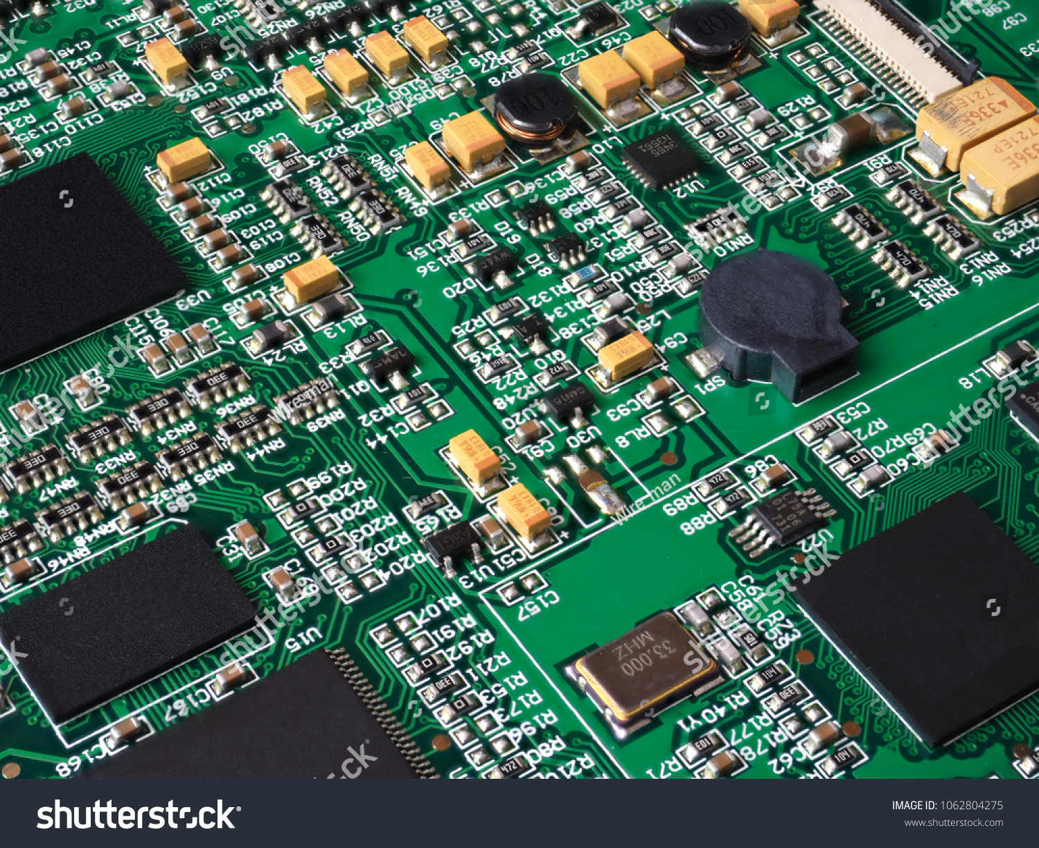 Printed Circuit Board Electronic Components Stock Photo Edit Now Pcb The Printedcircuitboard 3d Royalty Free Photography With