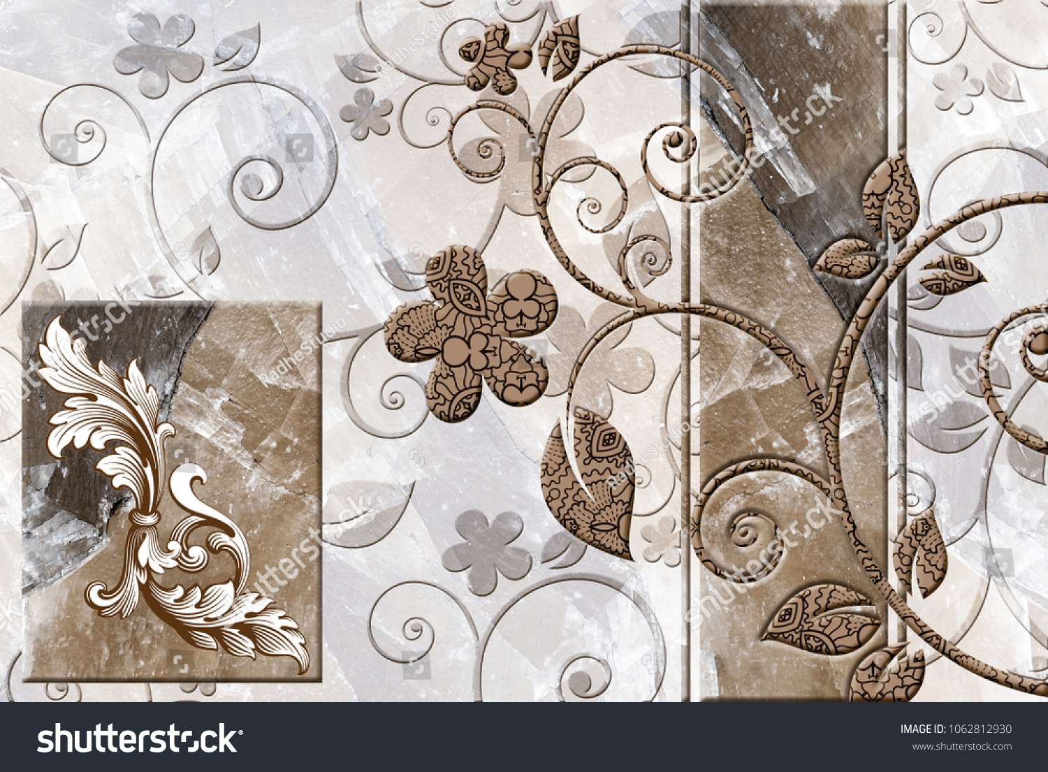 Marble Wall Floor Kitchen Bath Tile Stock Illustration 1062812930 ...