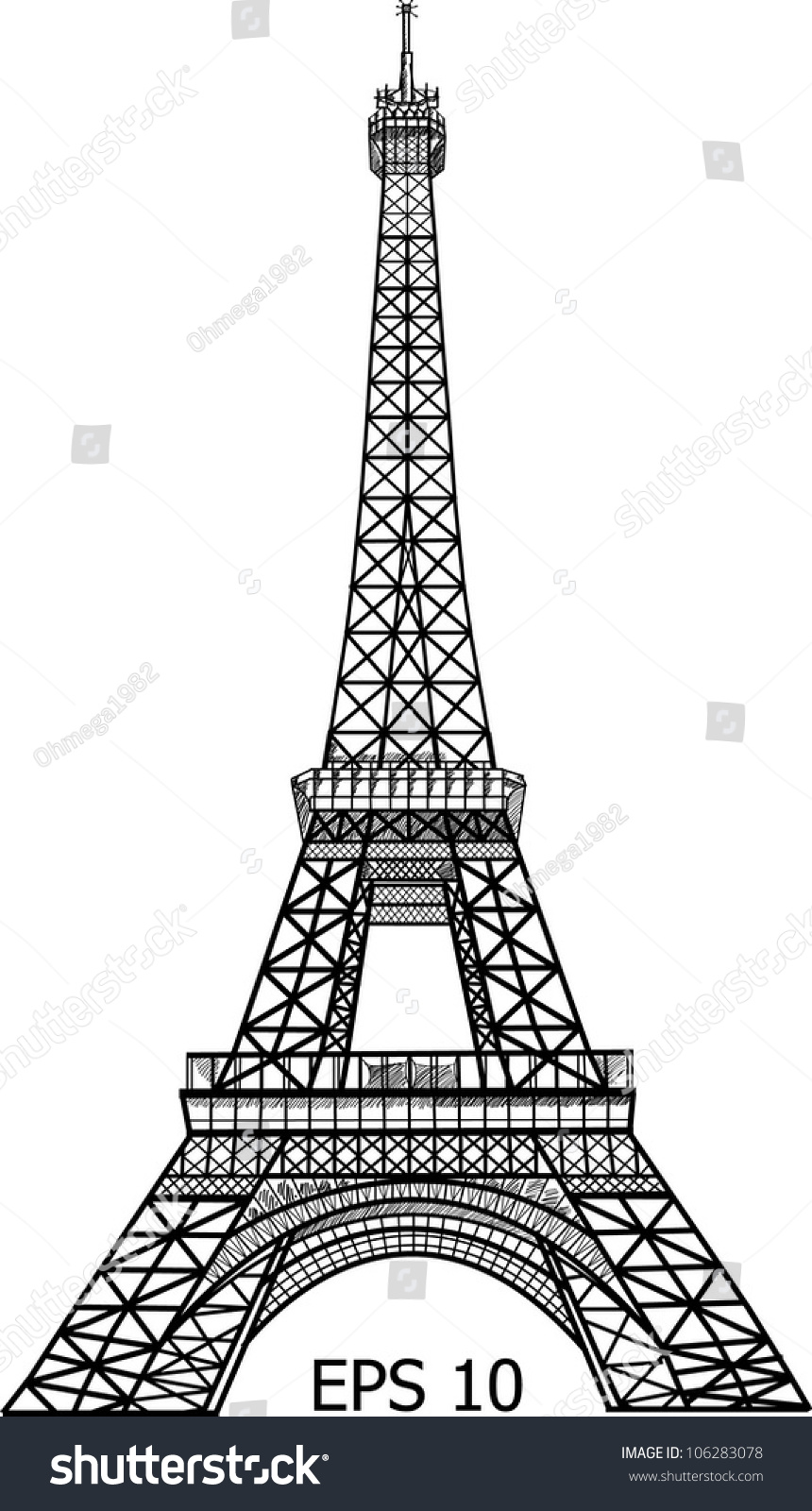 Eiffel tower paris vector illustration eps stock vector 106283078 eiffel tower in paris vector illustration eps 10 thecheapjerseys Gallery