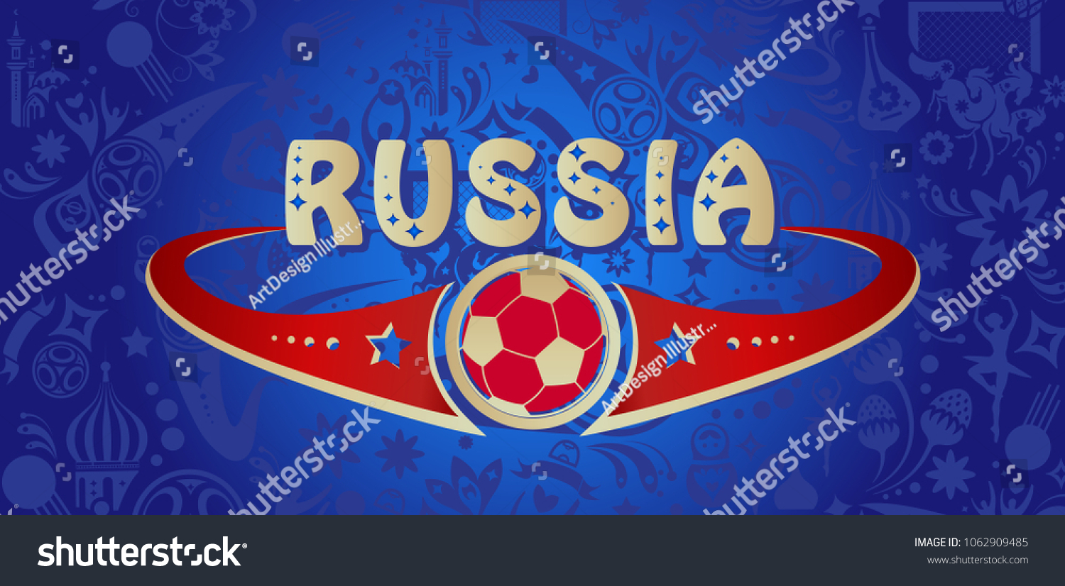 Welcome russia inscription gold text invitation stock vector welcome to russia inscription gold text invitation abstract dynamic background russian folk art tradition elements buycottarizona Gallery