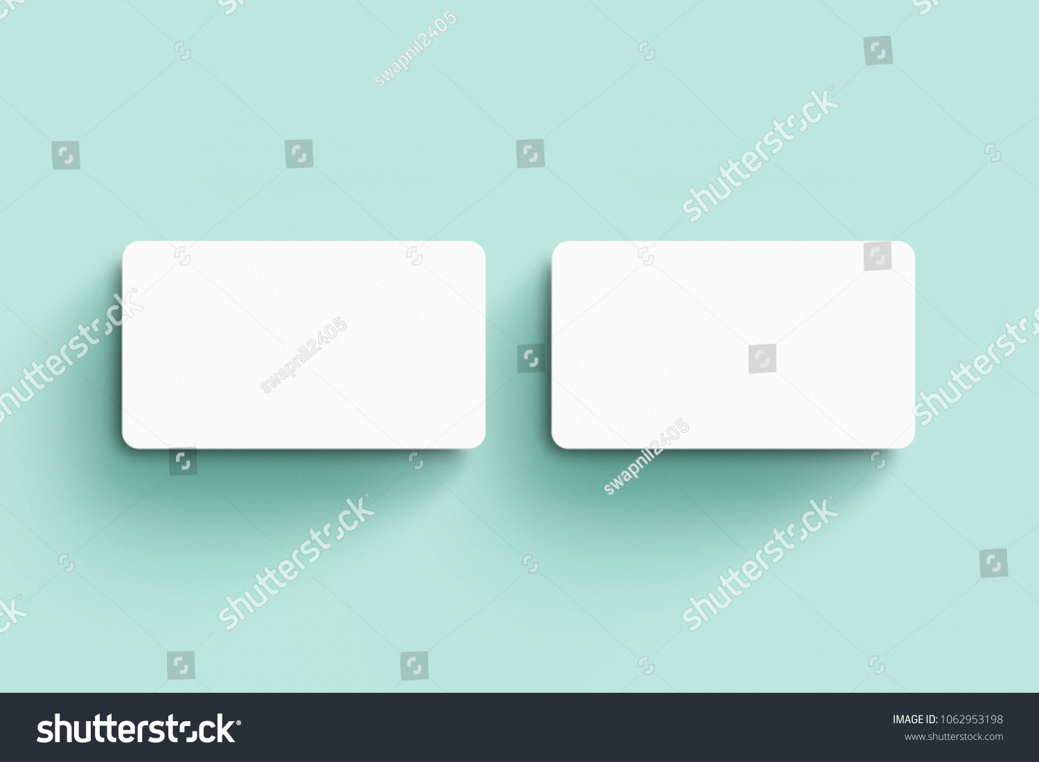 Rounded Business Card Mockup Template Stock Photo (Royalty Free ...