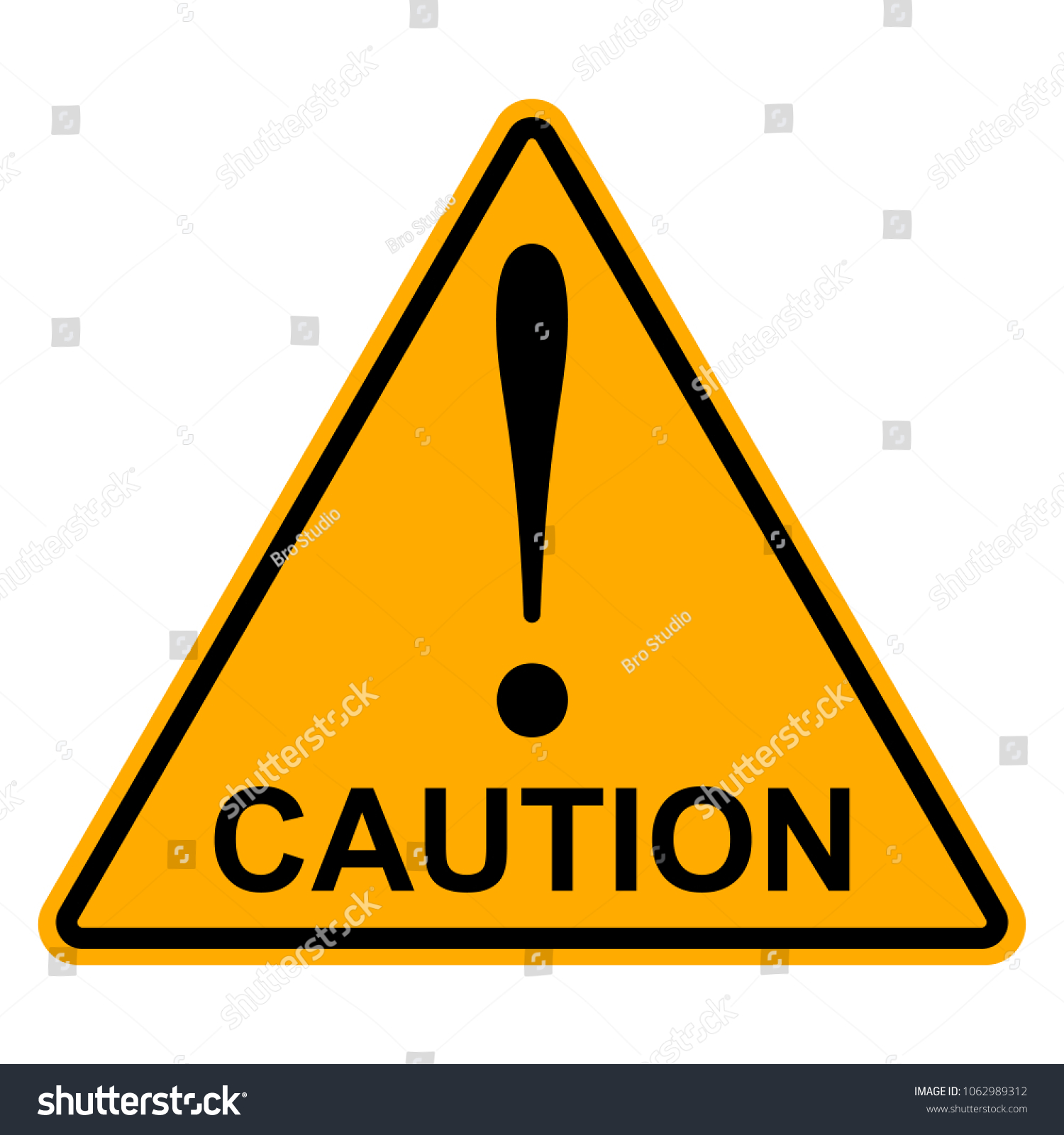 Orange yellow triangle exclamation mark word stock vector 1062989312 orange yellow triangle with exclamation mark the word caution vector hazard warning attention sign buycottarizona Choice Image