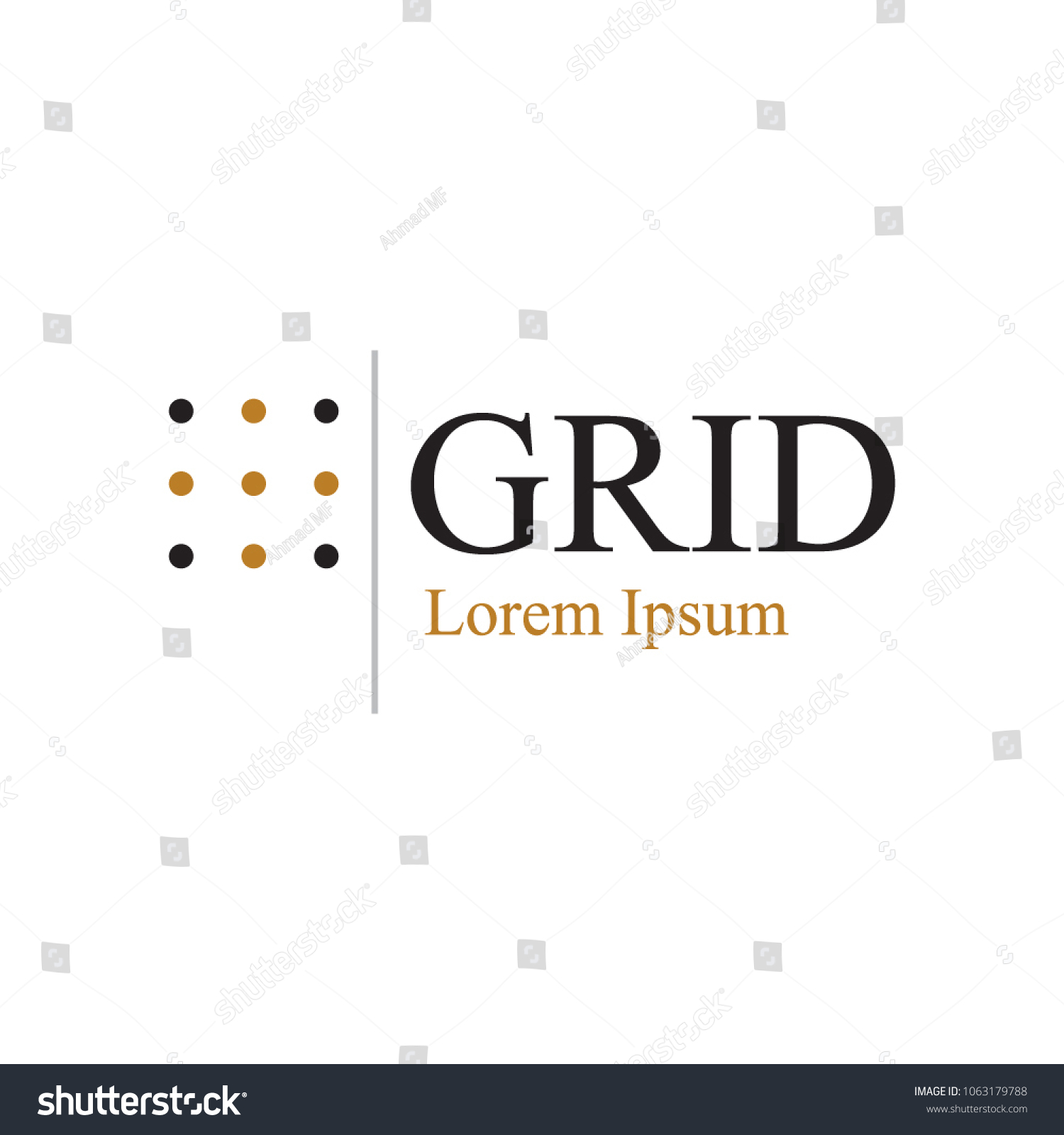 Dot Grid Logo Template Stock Vector 1063179788 - Shutterstock