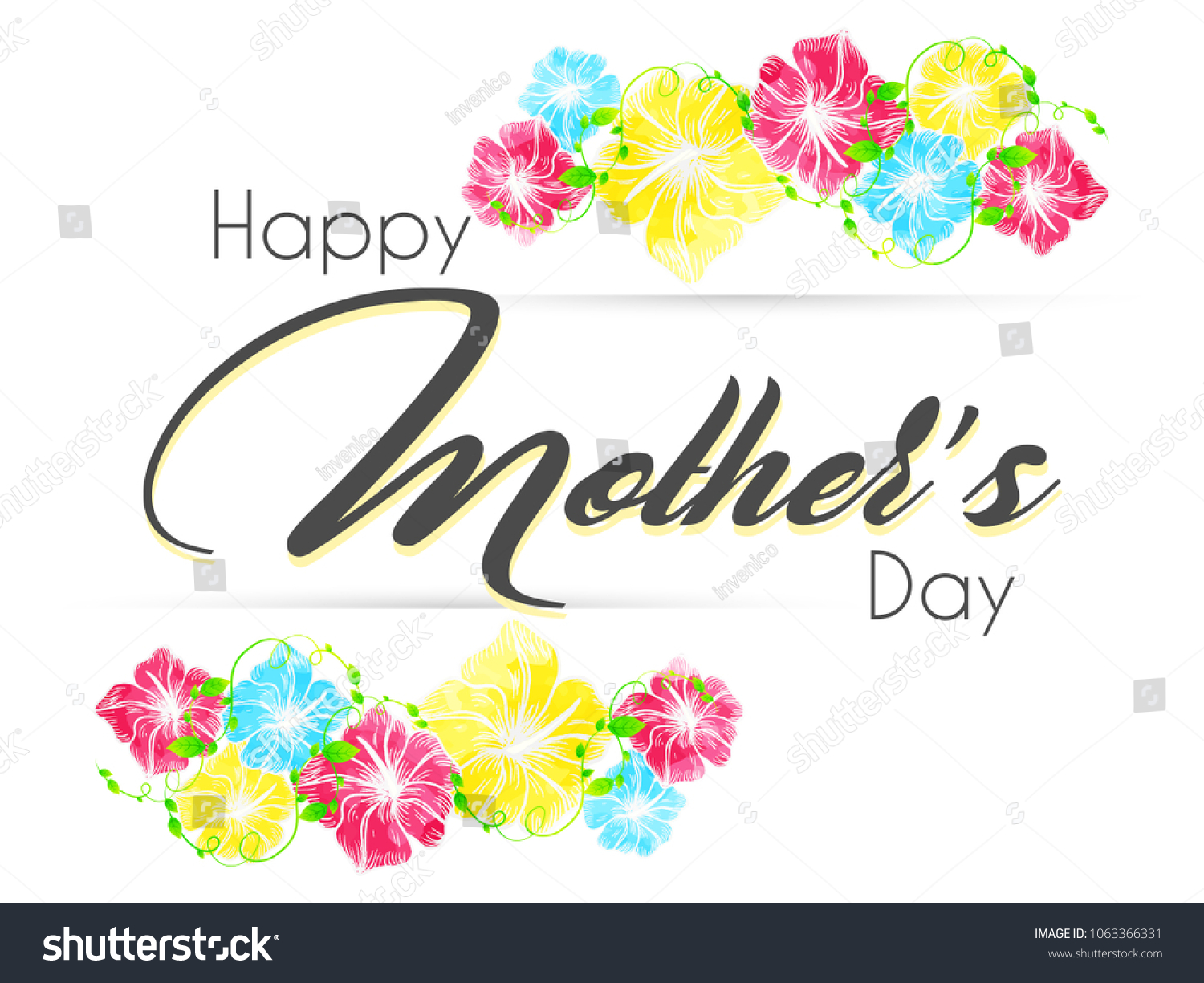 Beautiful Abstarct Poster Mothers Day Greetings Stock Vector