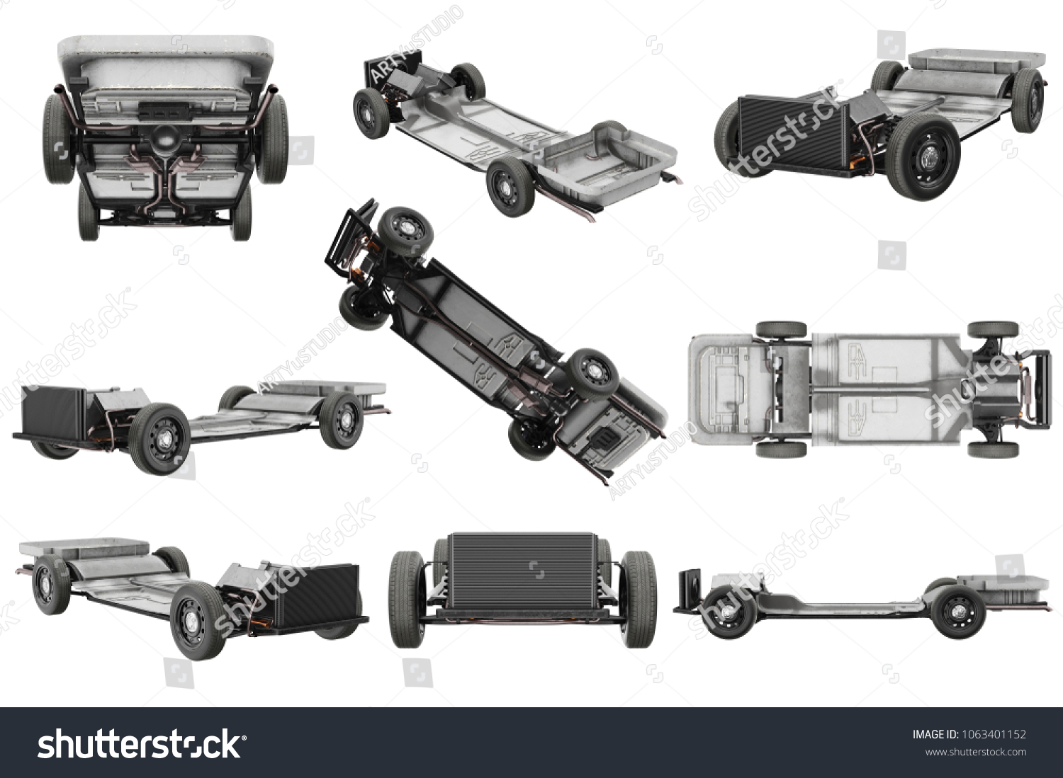 Royalty Free Stock Illustration of Chassis Frame Car Wheel