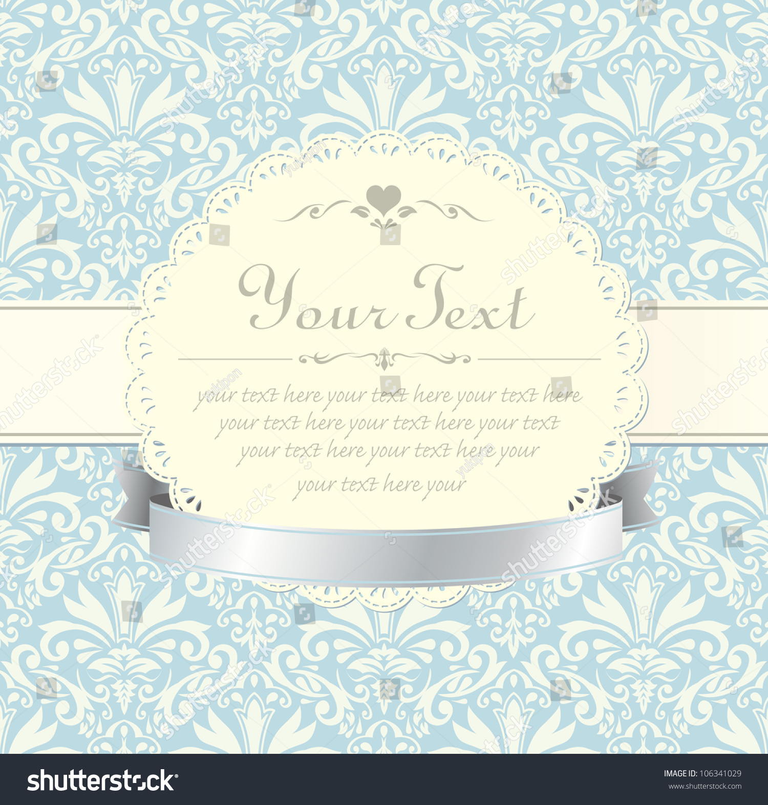 Blue vintage label vector frame stock vector 106341029 shutterstock blue vintage label vector frame stopboris Image collections