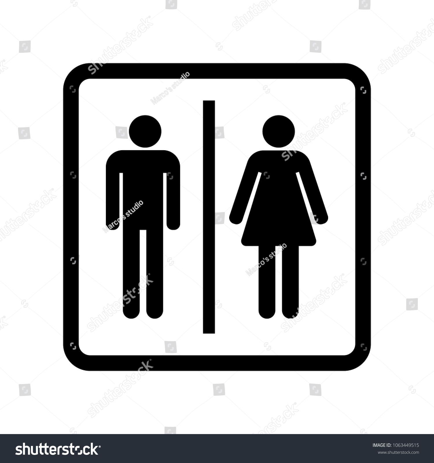 Bathroom Sign Vector Male And Female Bathroom Sign Vector Icon E - Male bathroom sign