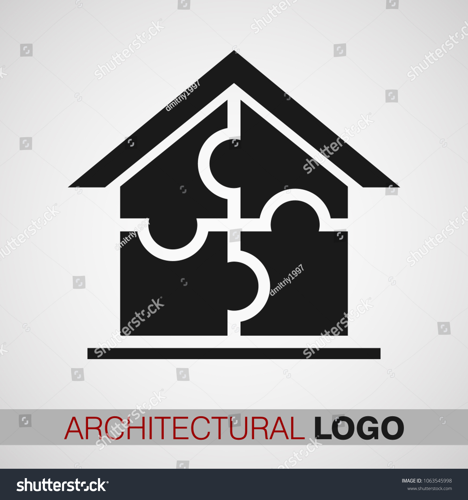 Creative Logo Architectural Firm Black Color Stock Vector Royalty