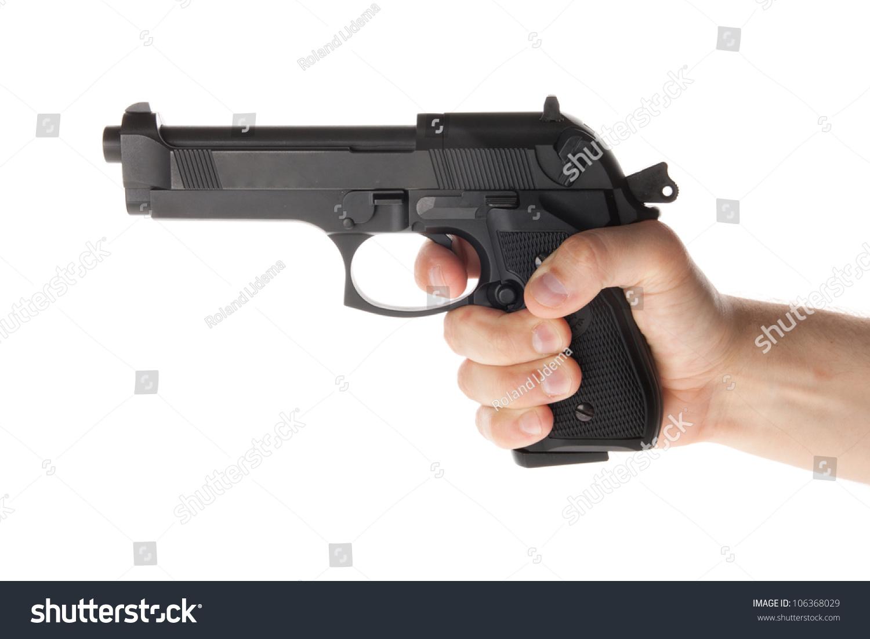 A Hand Is Holding A Gun Stock Photo 106368029 : Shutterstock