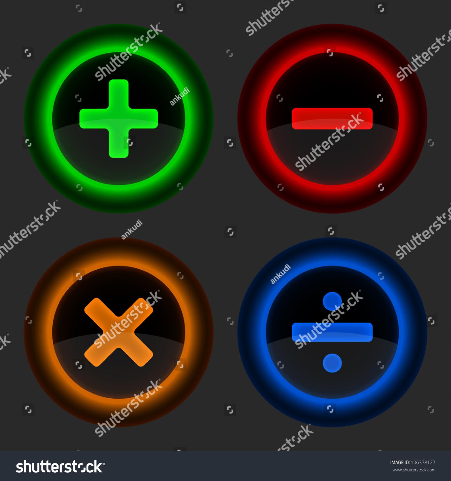 Colored web button math symbols round stock vector 106378127 colored web button with math symbols round shapes gray background vector illustration 10 biocorpaavc