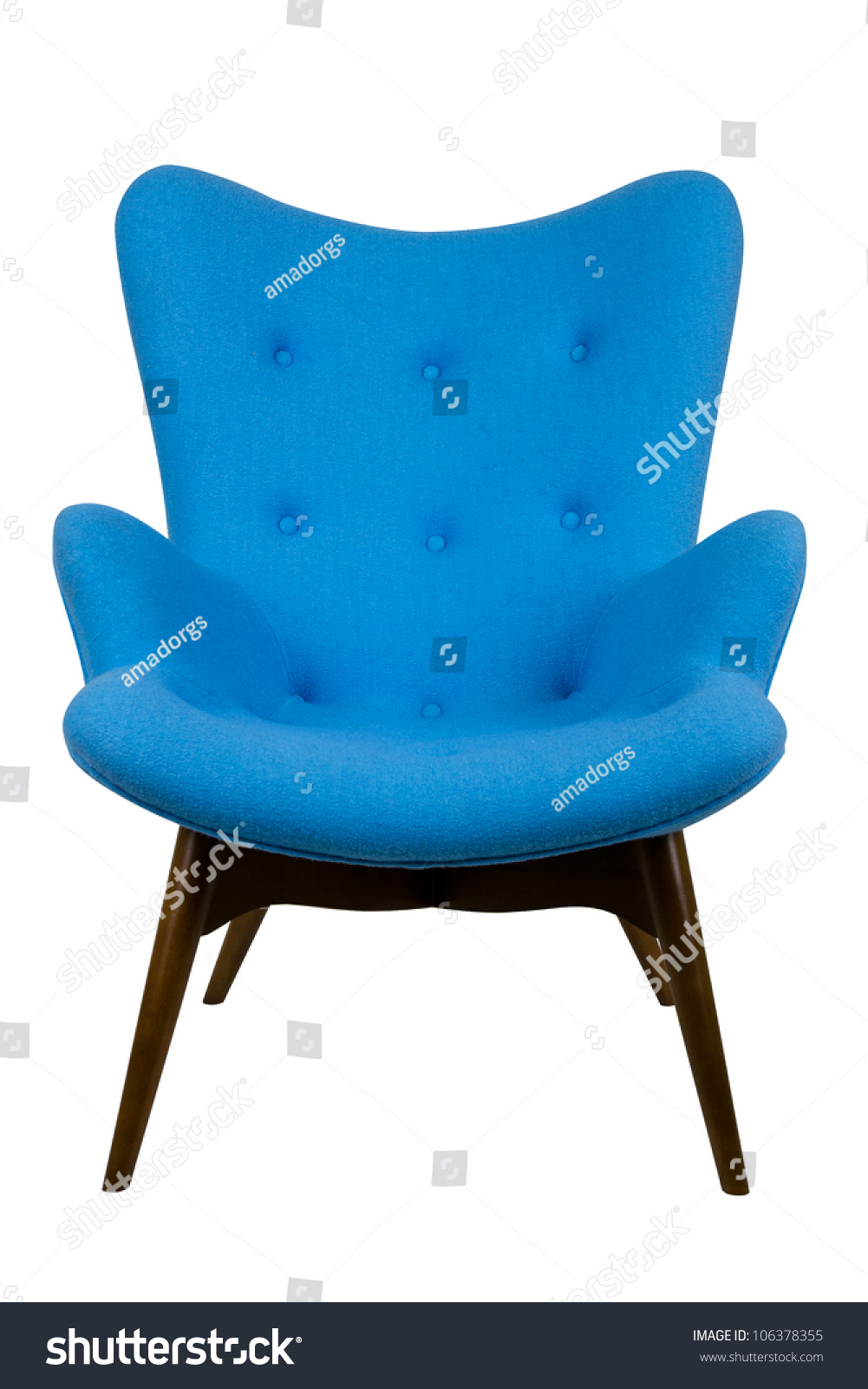 modern blue chair in style