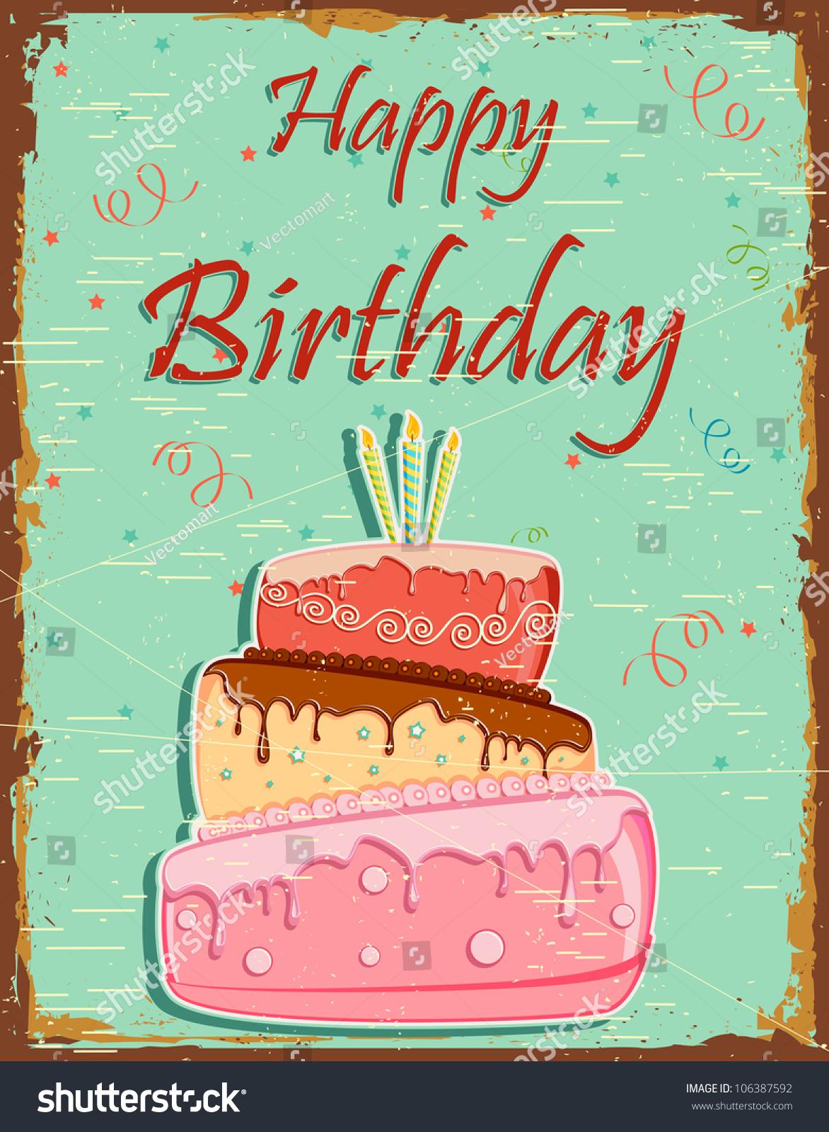 Картинки с днем рождения винтажные 8