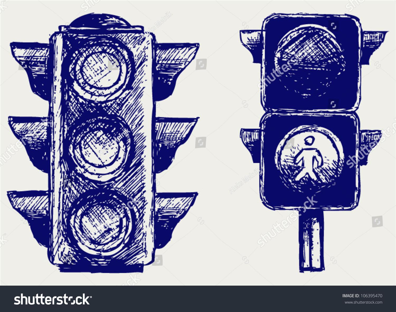Traffic Light Sketch Stock Vector 106395470 - Shutterstock for Traffic Light Sketch  557yll