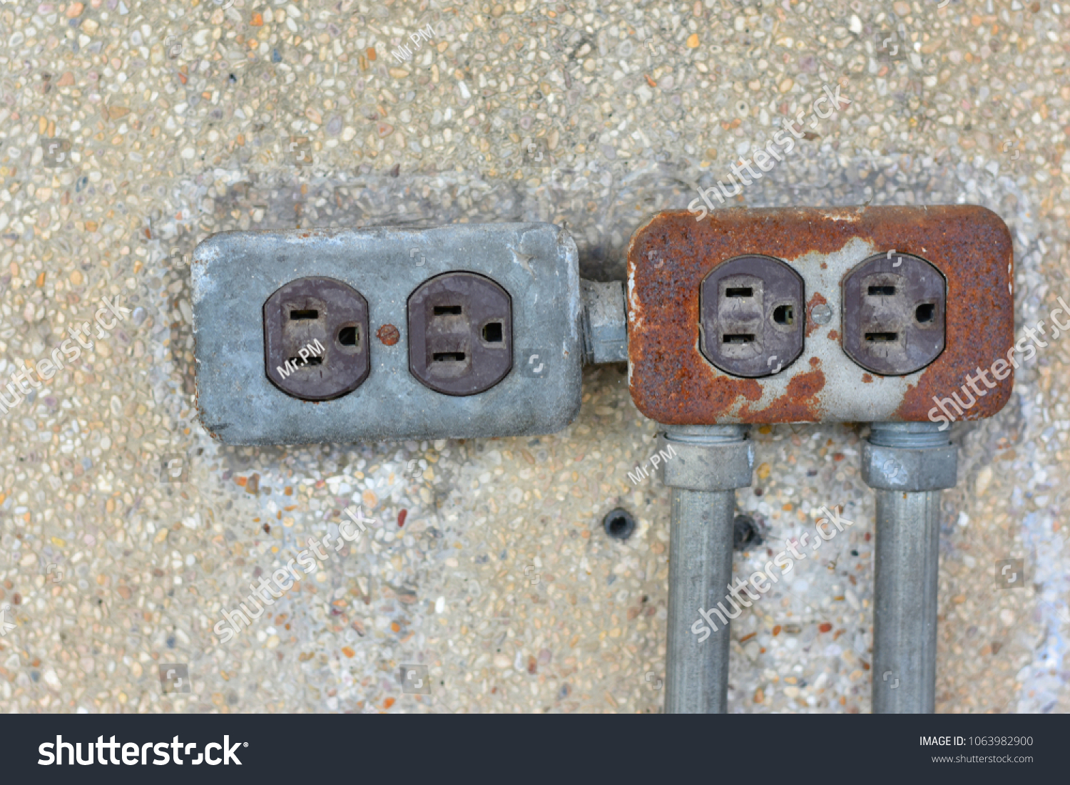 Rustic Metal Electrical Outlet Electrical Wiring Stock Photo ... on outlet covers, outlet amperage, outlet faceplate, outlet pinout, outlet electrical, outlet voltage, outlet fuse, outlet panel, outlet works, outlet centers california, outlet box, outlet circuit, outlet installation, outlet store, outlet fixtures, outlet enclosure, outlet plugs, outlet tester, outlet connections, outlet wire,