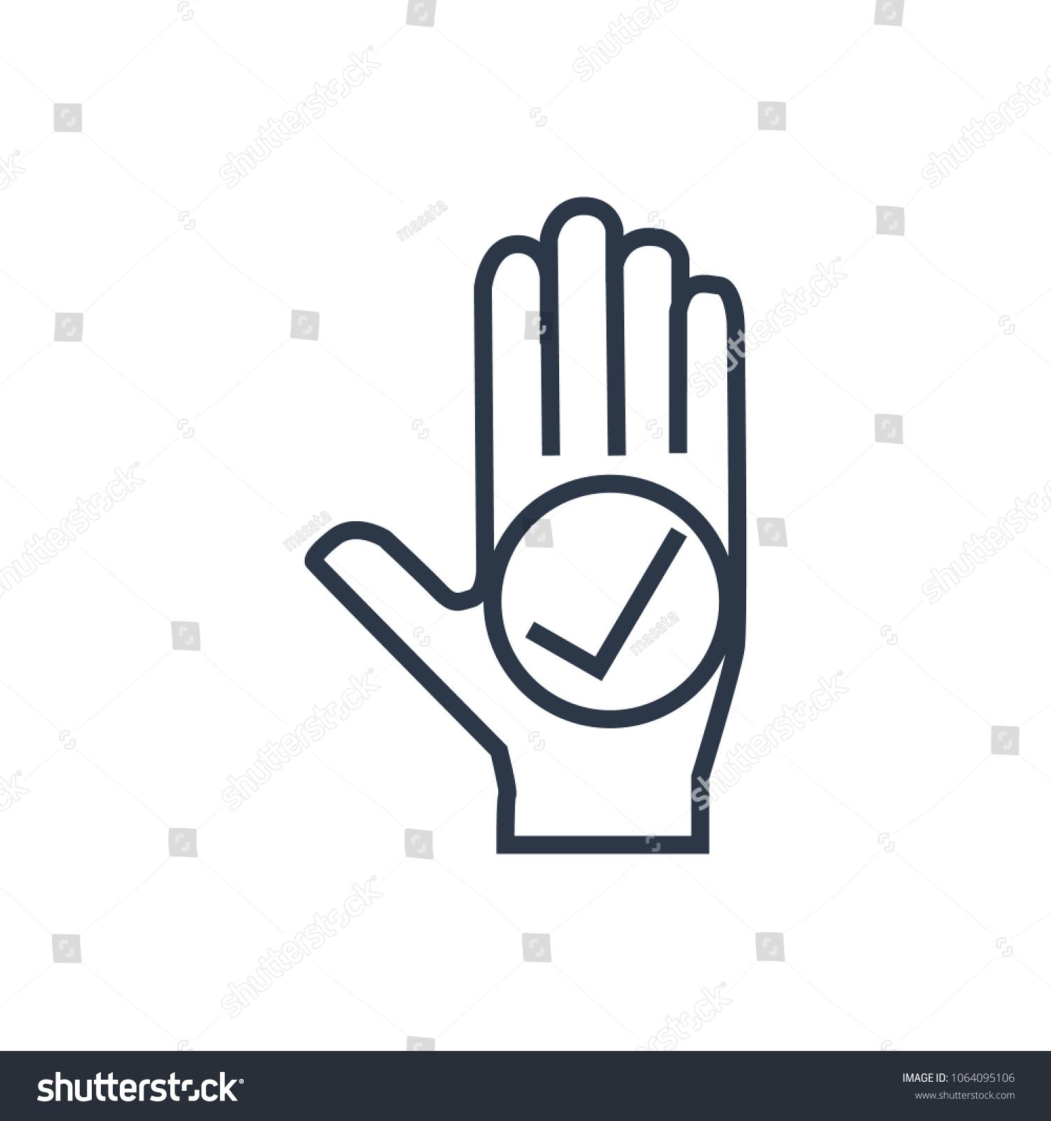 Honesty Icon Isolated Palm Honesty Icon Stock Illustration