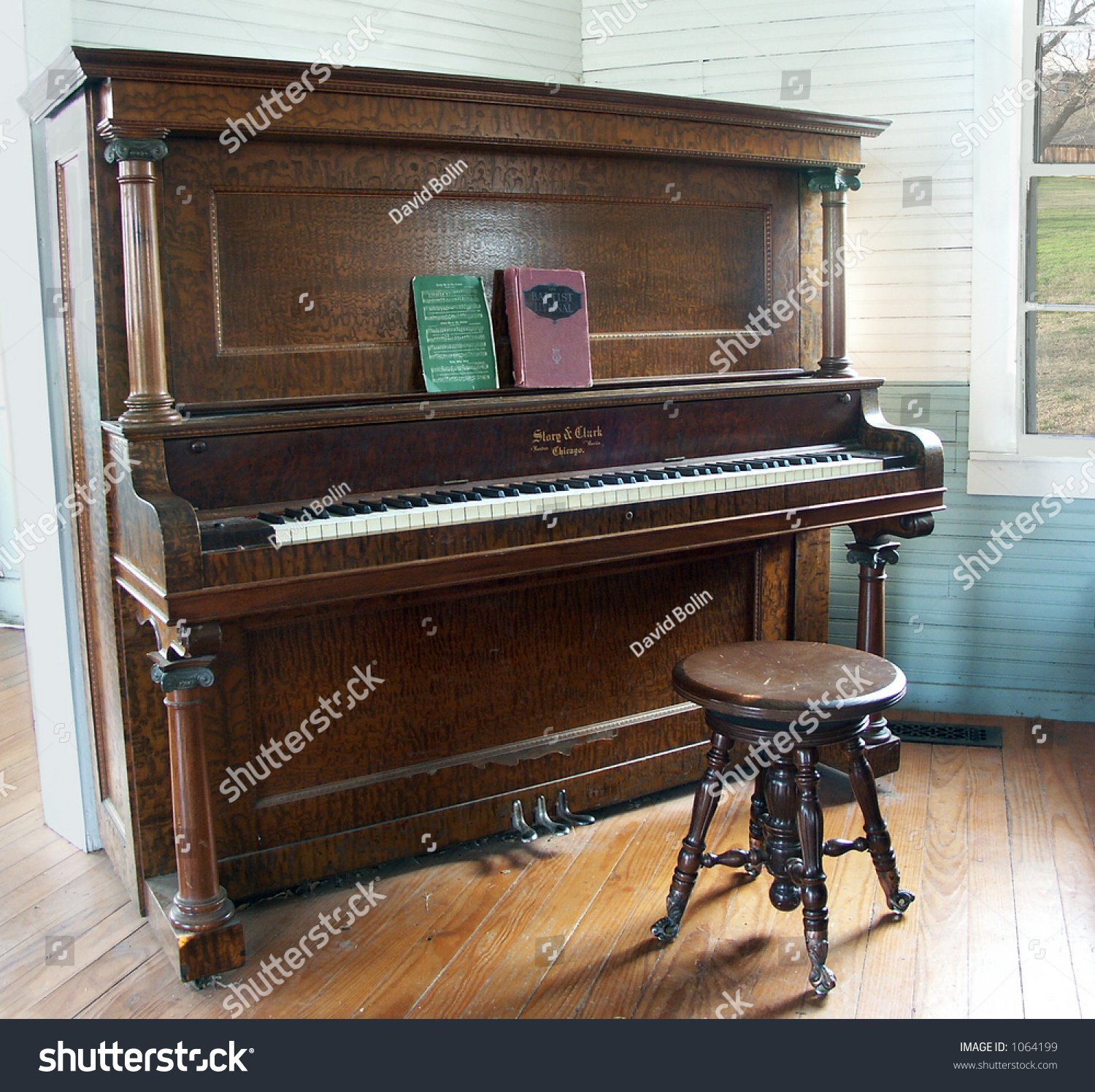 old piano country church stock photo 1064199 shutterstock. Black Bedroom Furniture Sets. Home Design Ideas