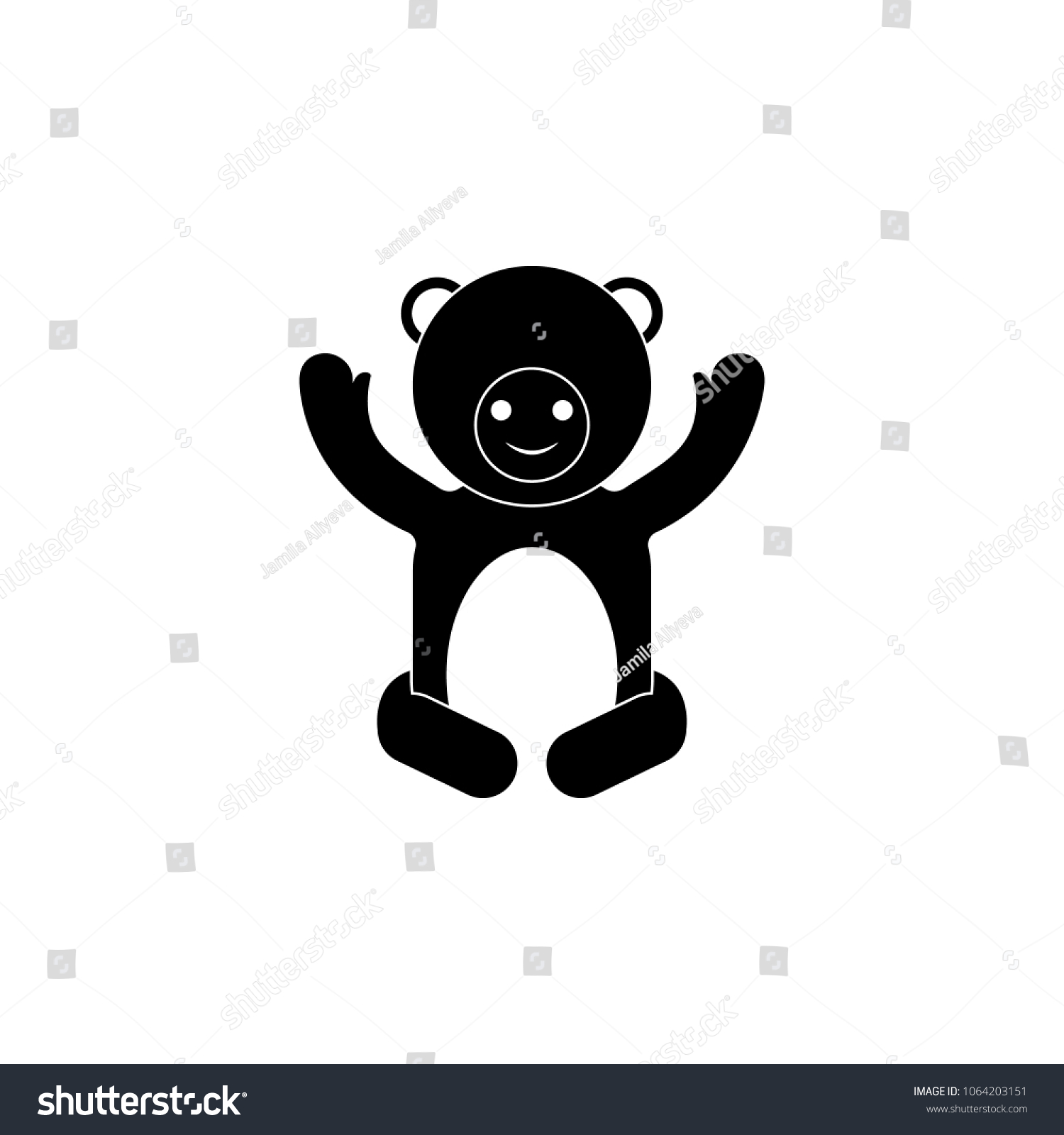 Baby Clothes Teddy Bear Icon Element Stock Vector HD Royalty Free