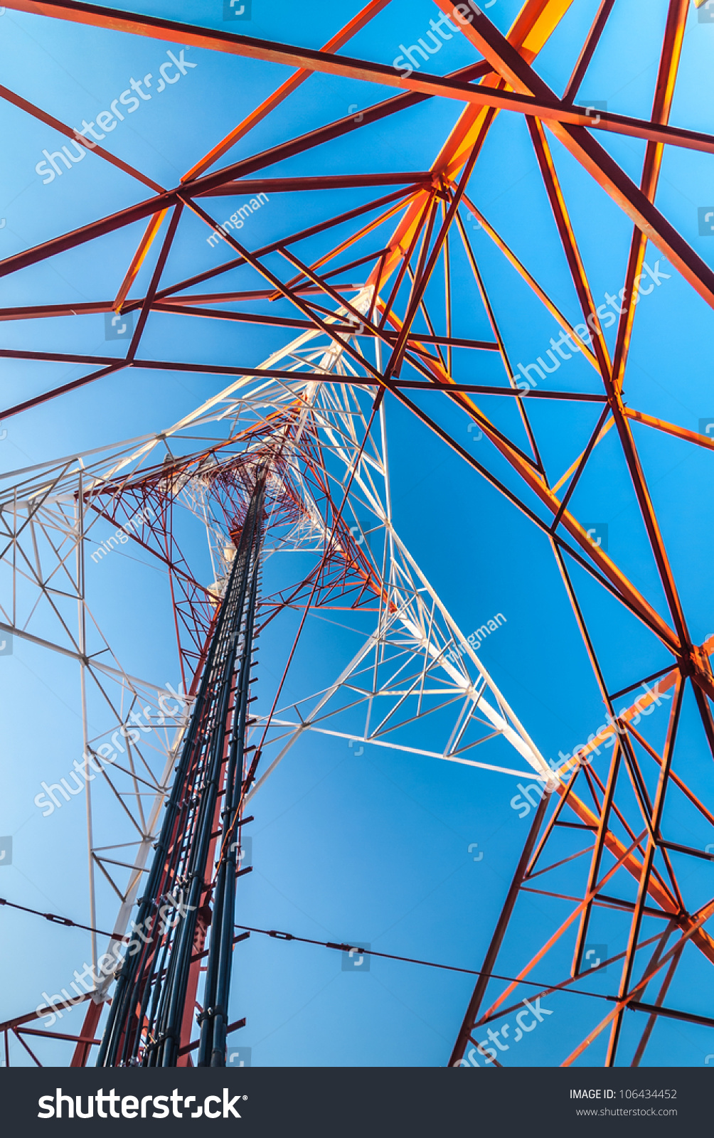 Telephone Transmitter A Large Tower With Sky Background Ez Canvas Id 106434452