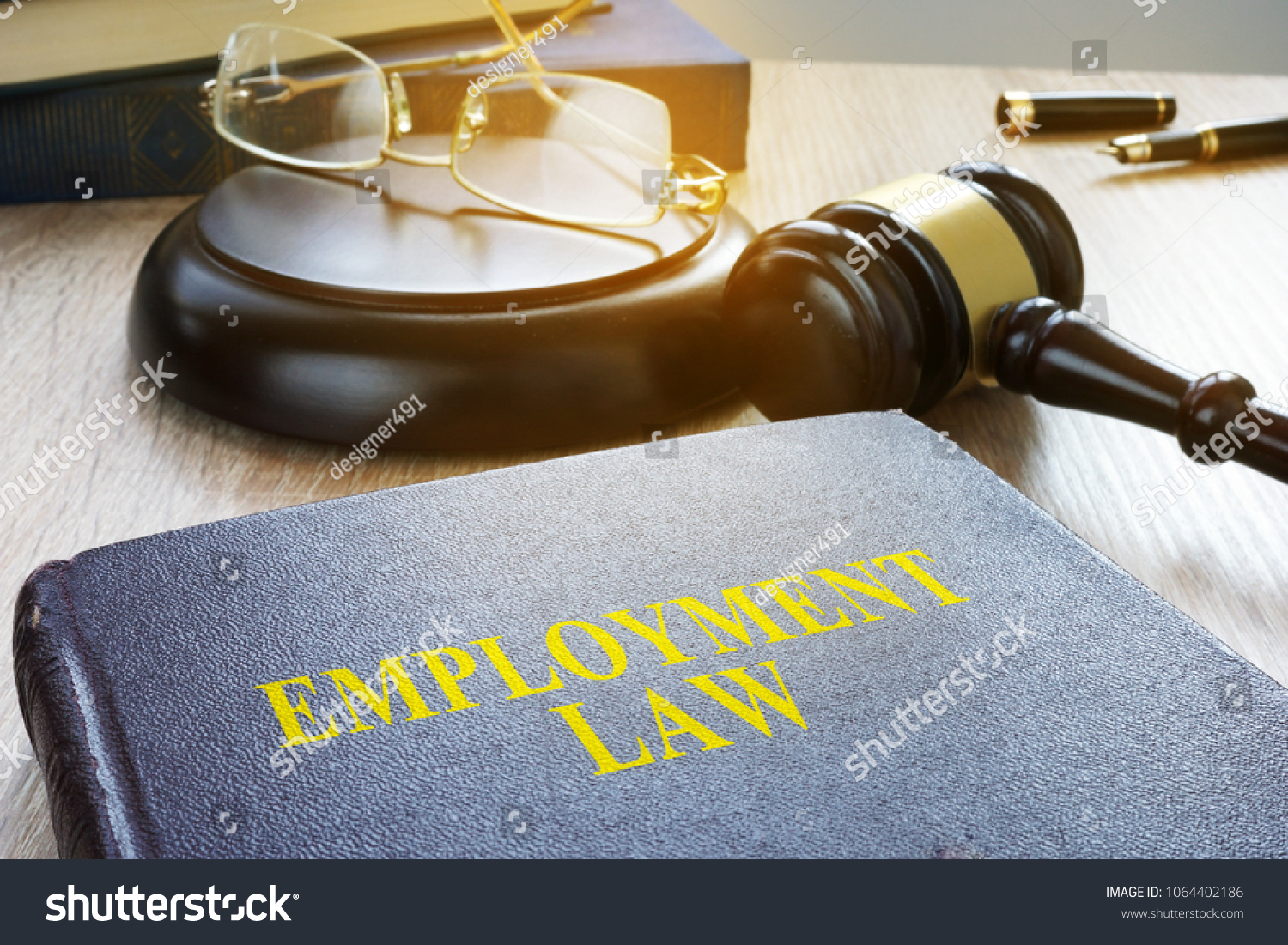 Employment law in a court. Labor code concept. #1064402186