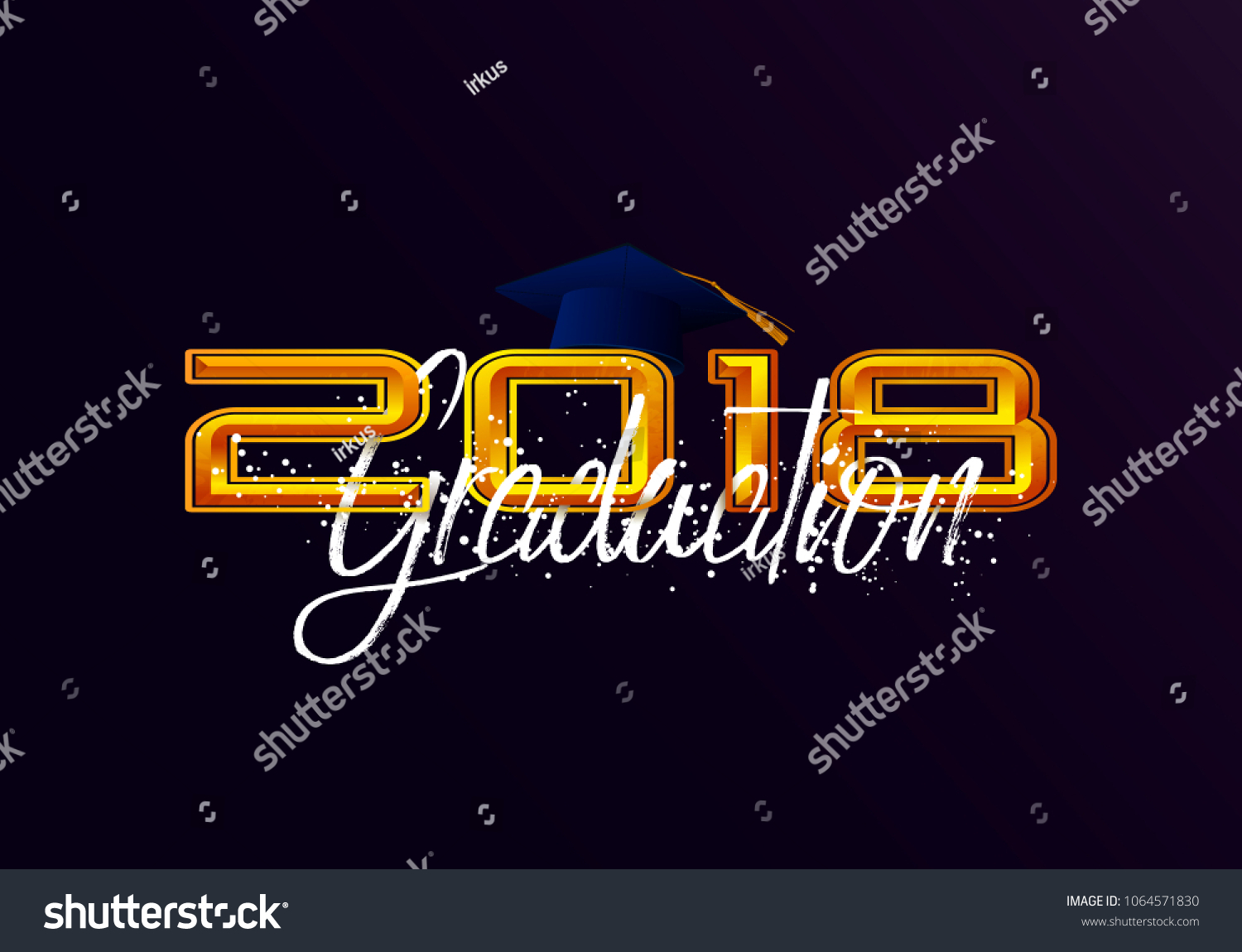 graduation label vector text graduation design stock illustration