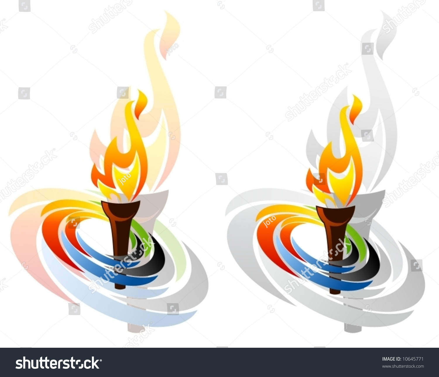 Olympic Symbols Stock Vector Royalty Free 10645771 Shutterstock