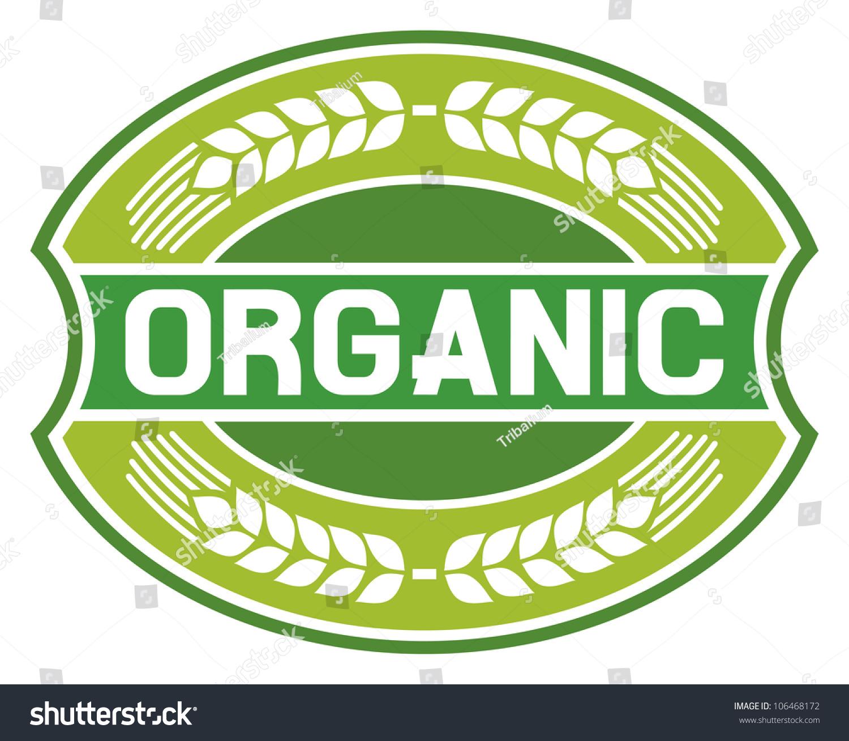Organic Food Label Stock Illustration 106468172 - Shutterstock