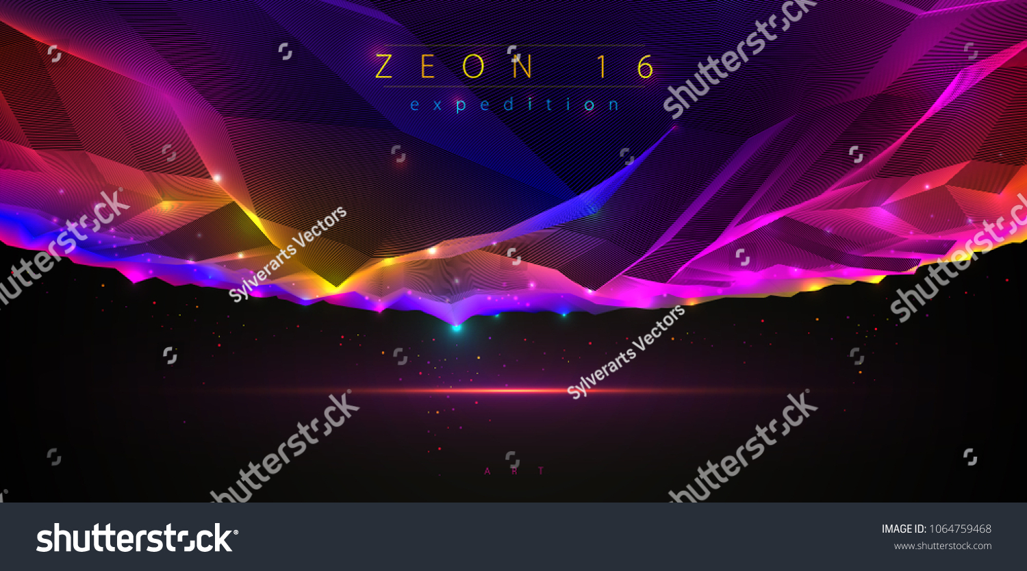 Science Fiction Vector Cosmic Illustration Space Stock