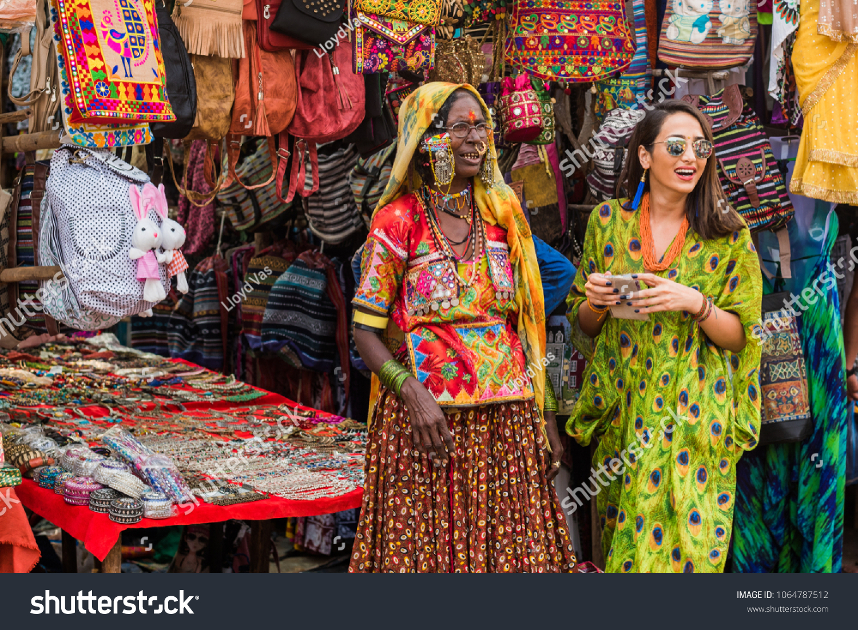 Anjuna Beach Goa India April 4 2018 Stock Photo Edit Now
