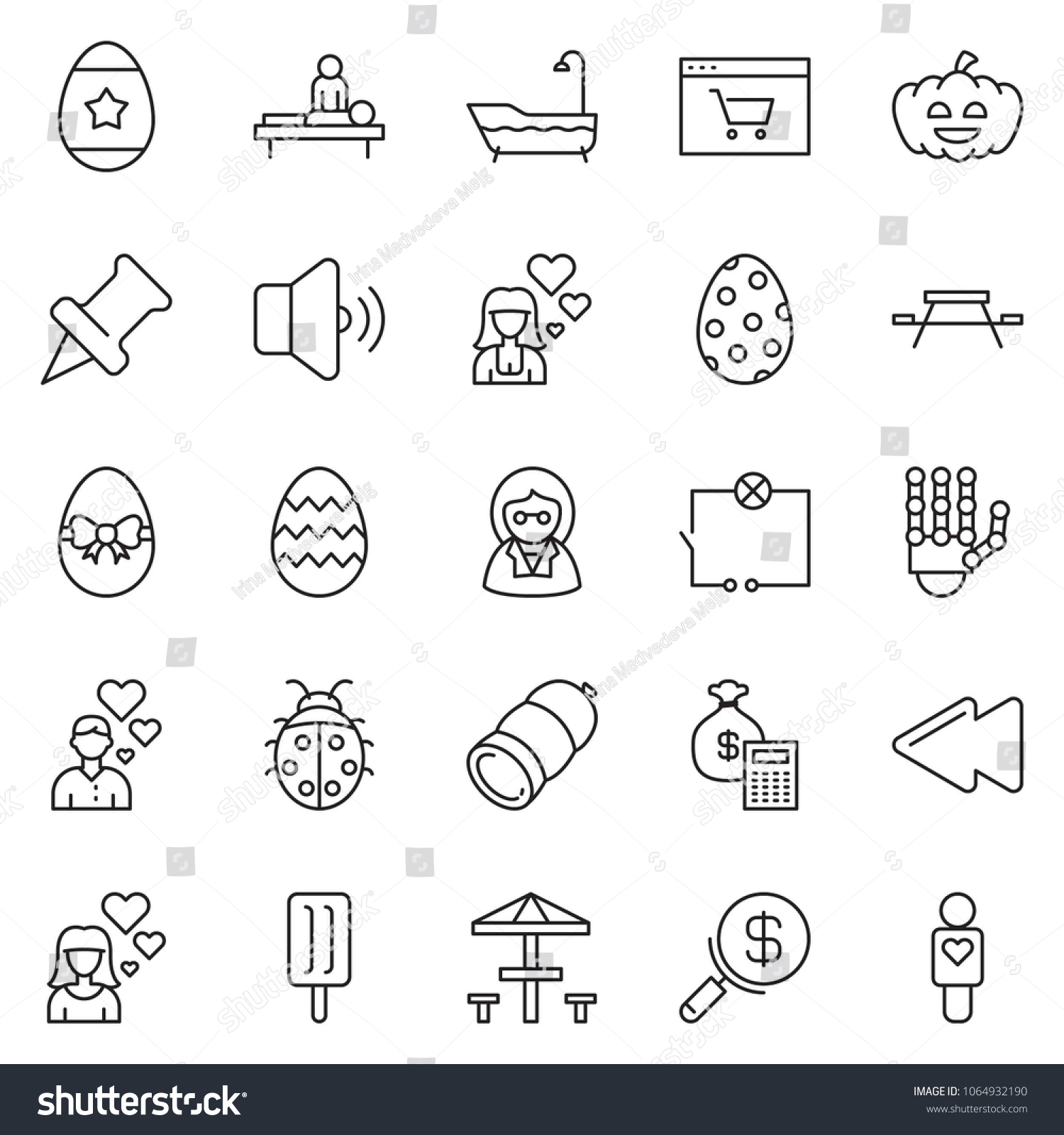 Thin Line Icon Set Money Bag Stock Vector Royalty Free 1064932190 Wiring How To Calculator Search Web Shop