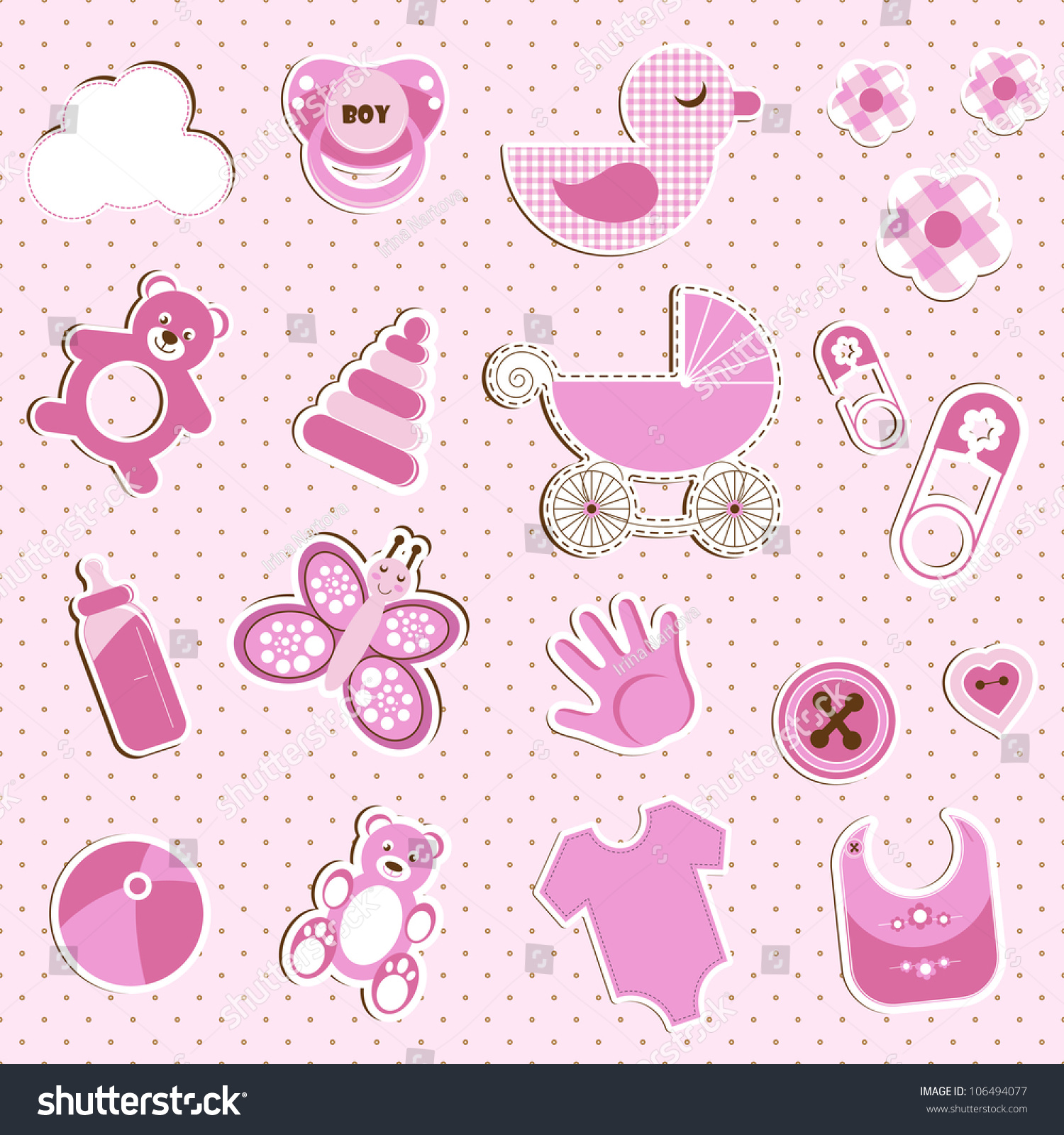 How to scrapbook for baby girl - Scrapbook Set Of Baby Girl Things