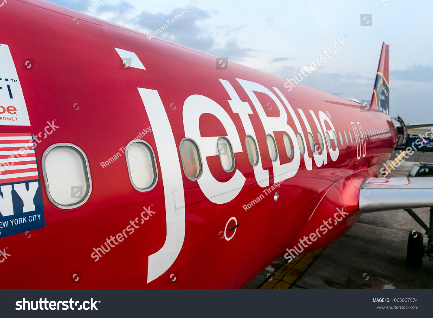 Barbados March 28 2018 Jet Blue Aircraft Stock Photo Edit Now