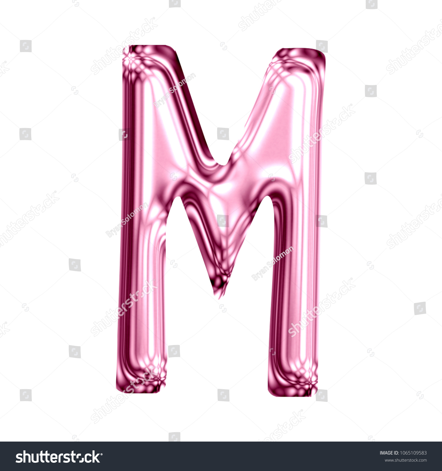 Royalty Free Stock Illustration of Shiny Pink Glass Letter M ...