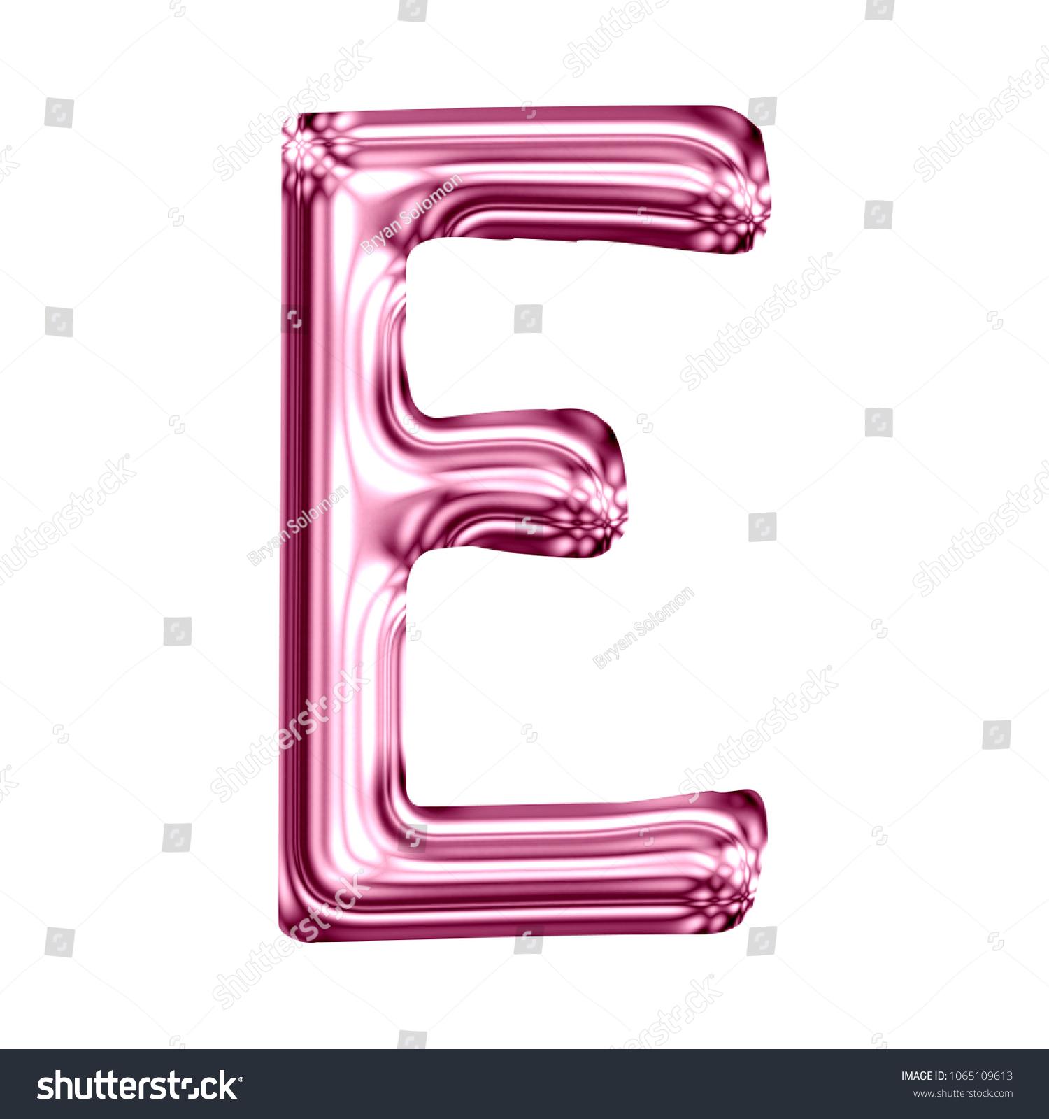 Shiny Pink Glass Letter E Uppercase Stock Illustration 1065109613 ...
