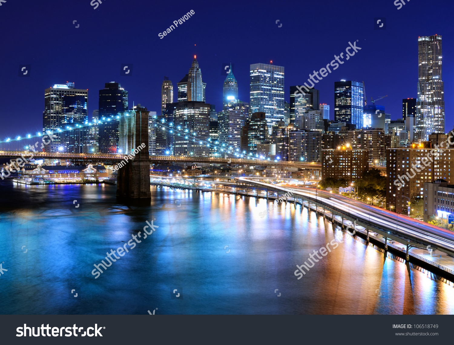 skyline downtown new york new york stock photo 106518749 shutterstock. Black Bedroom Furniture Sets. Home Design Ideas