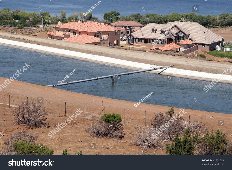 Los angeles aqueduct runs through city stock photo for Lake fishing near los angeles