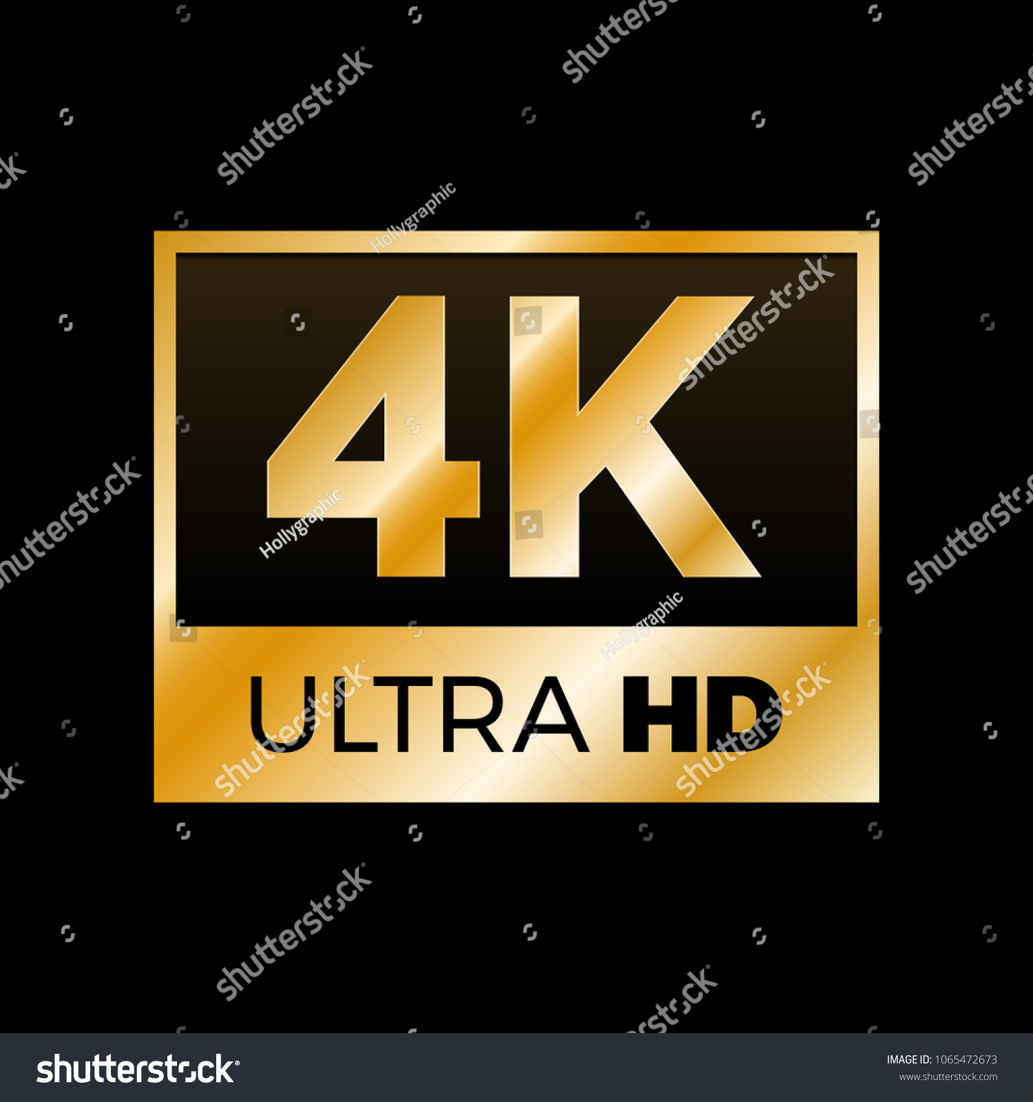 4 k ultra hd symbol high definition stock vector (royalty free