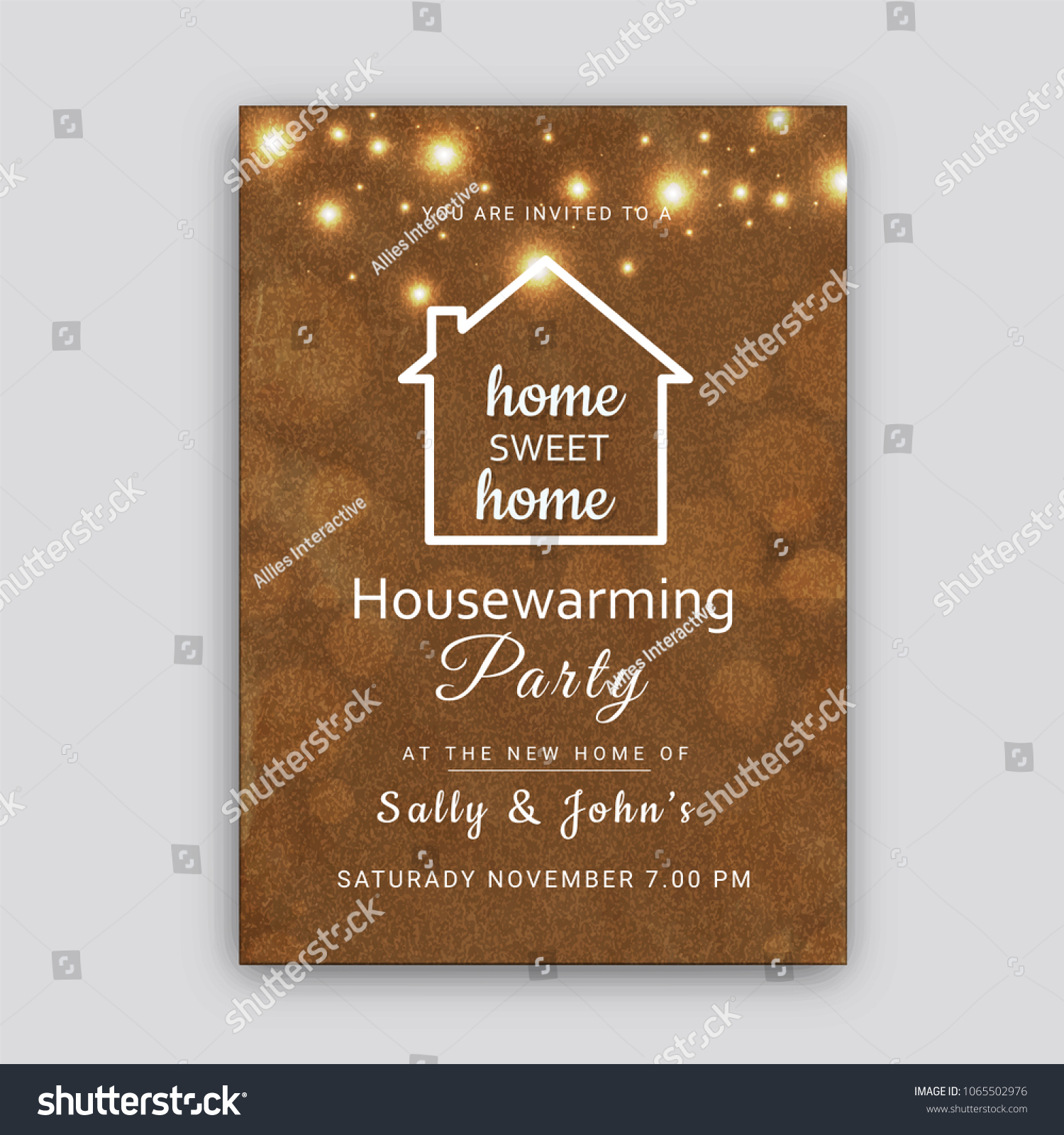 Housewarming Party Invitation Card Design Stock Vector (Royalty Free)  1065502976