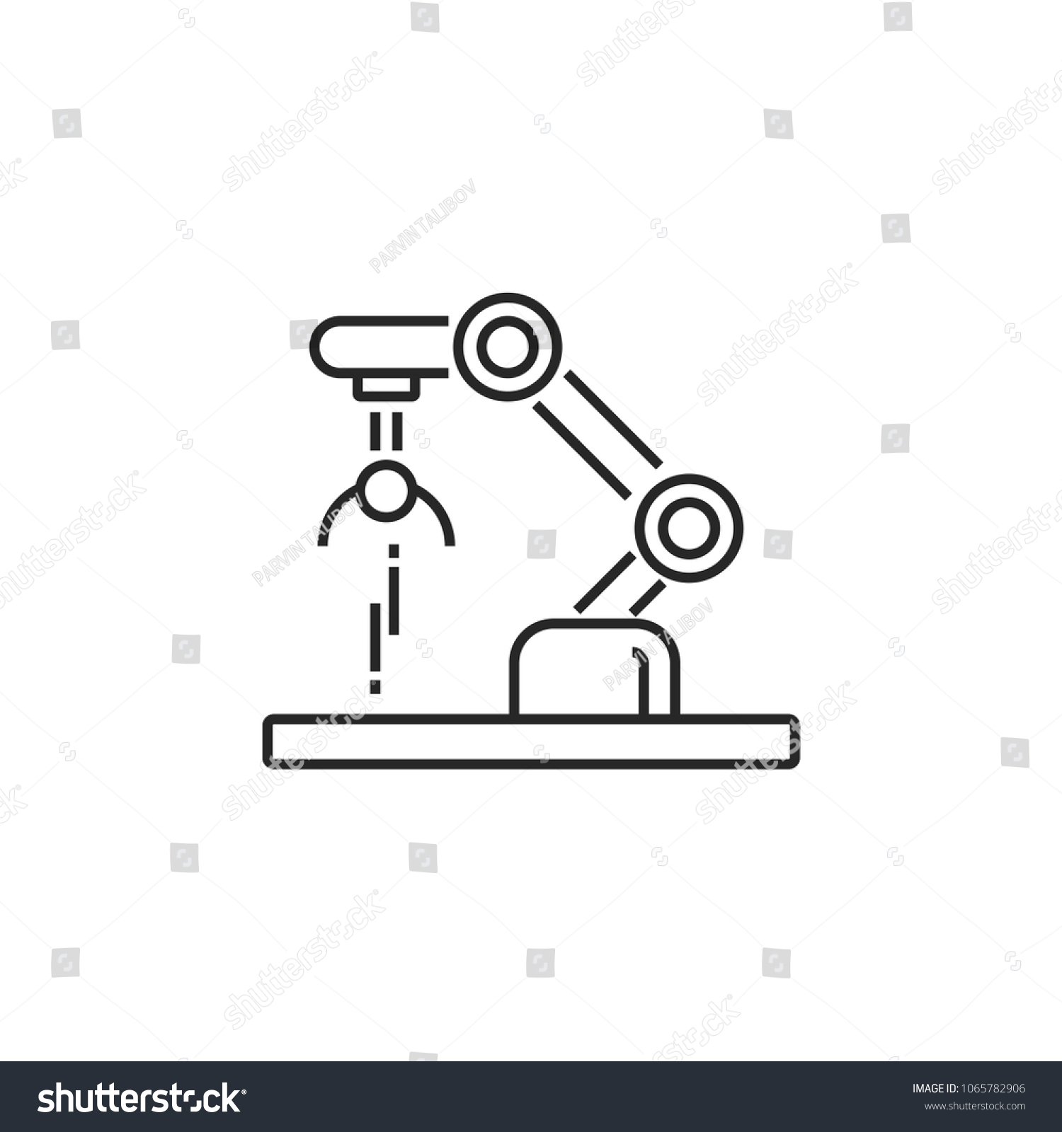 Robotics Modern Simple Outline Vector Icon Stock Vector Royalty