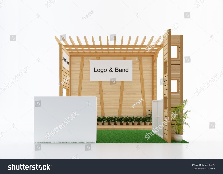 Exhibition Booth Floor Plan : Empty blank wood exhibition booth front stock illustration