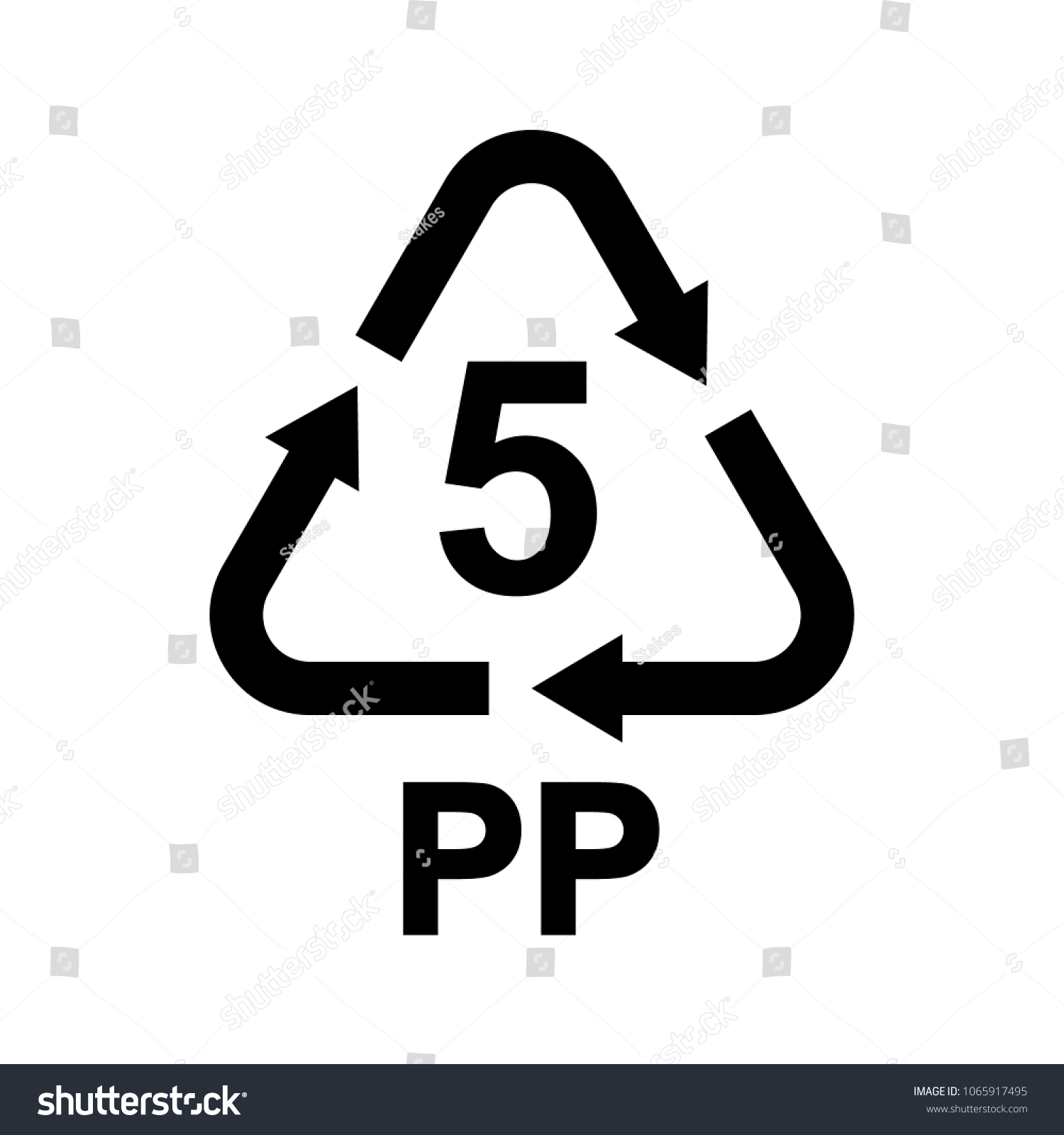 Plastic Recycling Symbol Pp 5 Resin Stock Vector Royalty Free