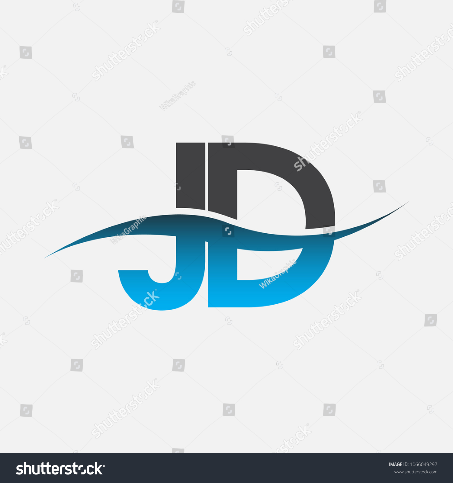 initial letter logo jd company name stock vector royalty free 1066049297 shutterstock