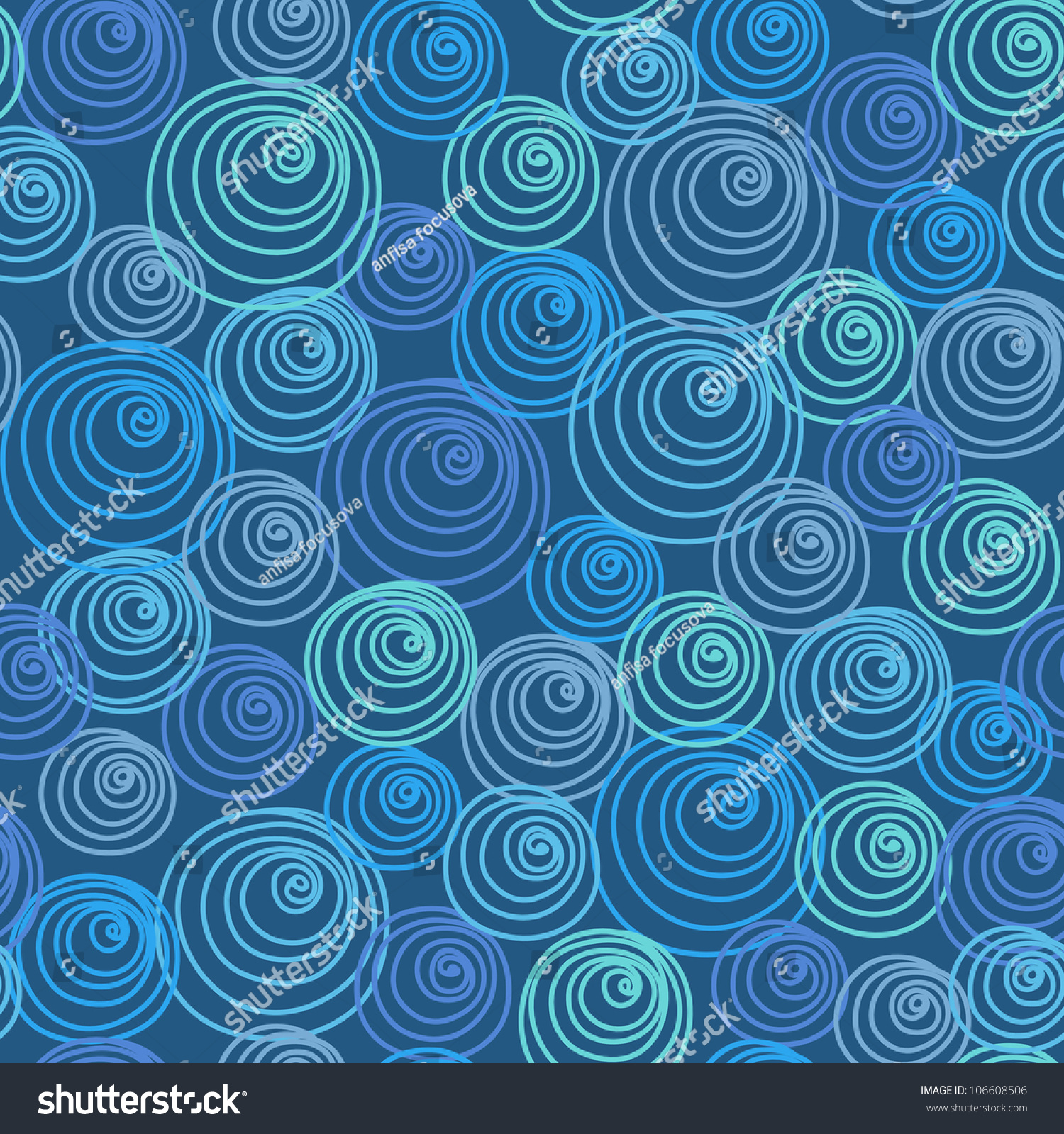 Of Doodles Dark Blue Background With Stylized Texture Of Water