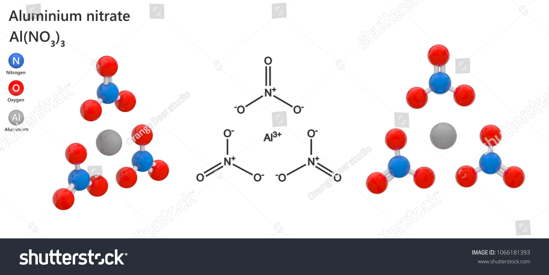 Aluminium Nitrate Al N 3 O 9 Al No 33 White Watersoluble Salt Stock
